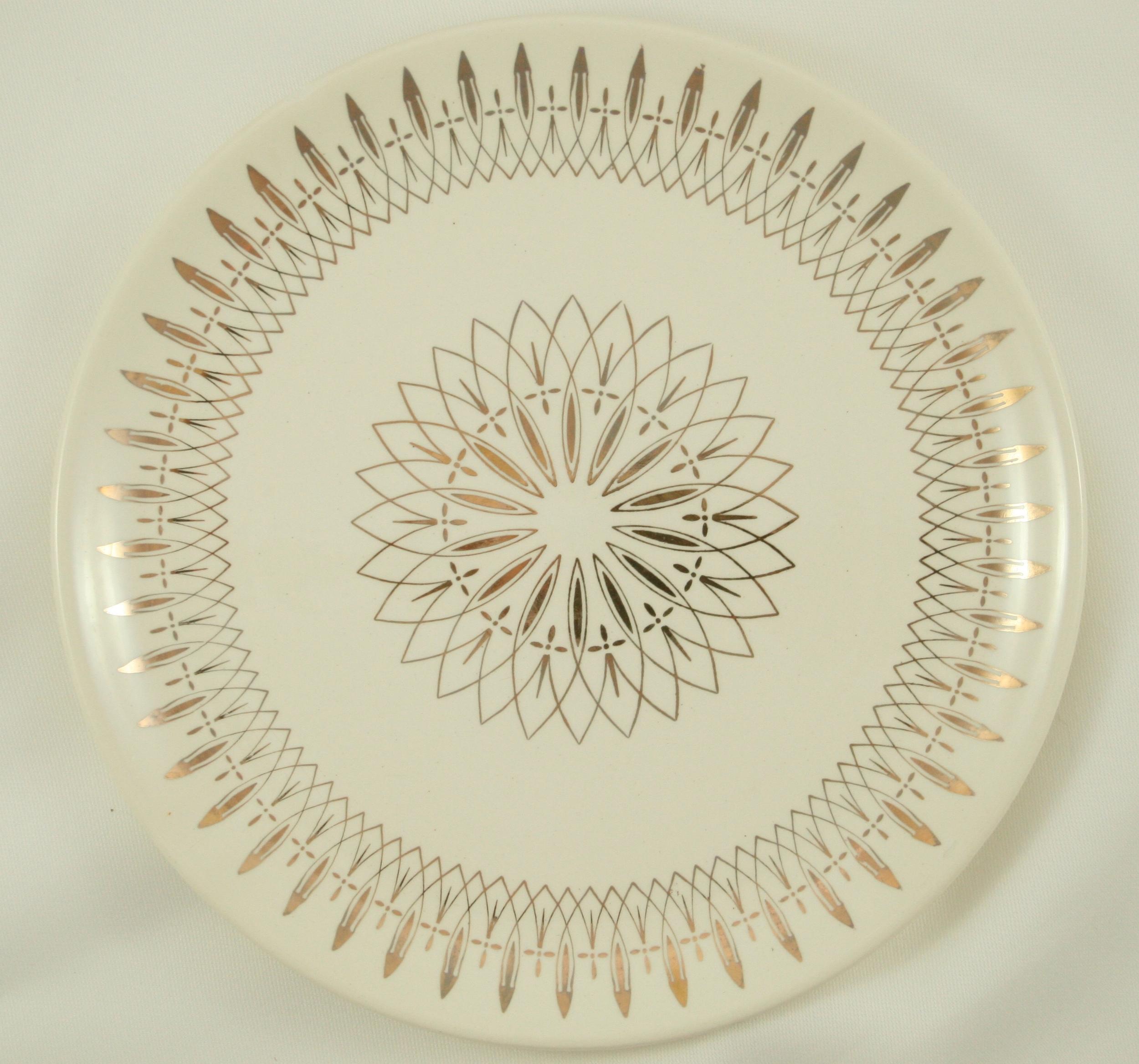 Vintage gold plate