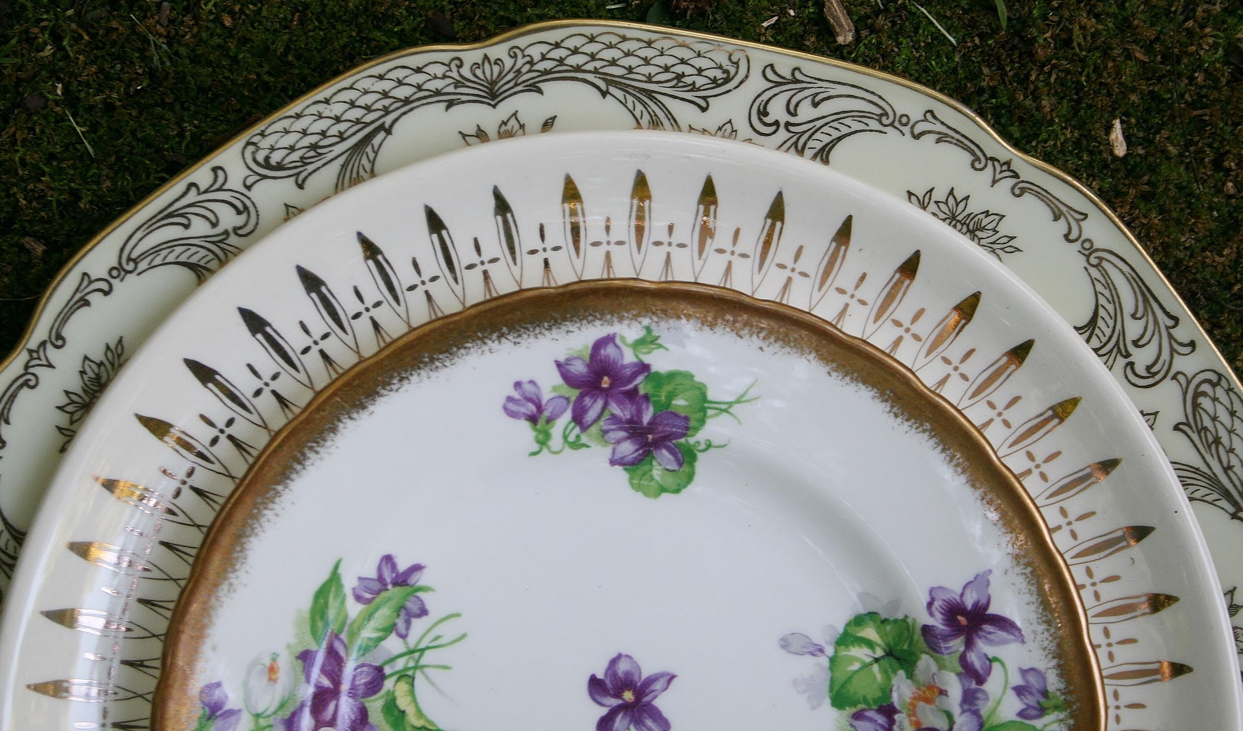 Vintage gold plates
