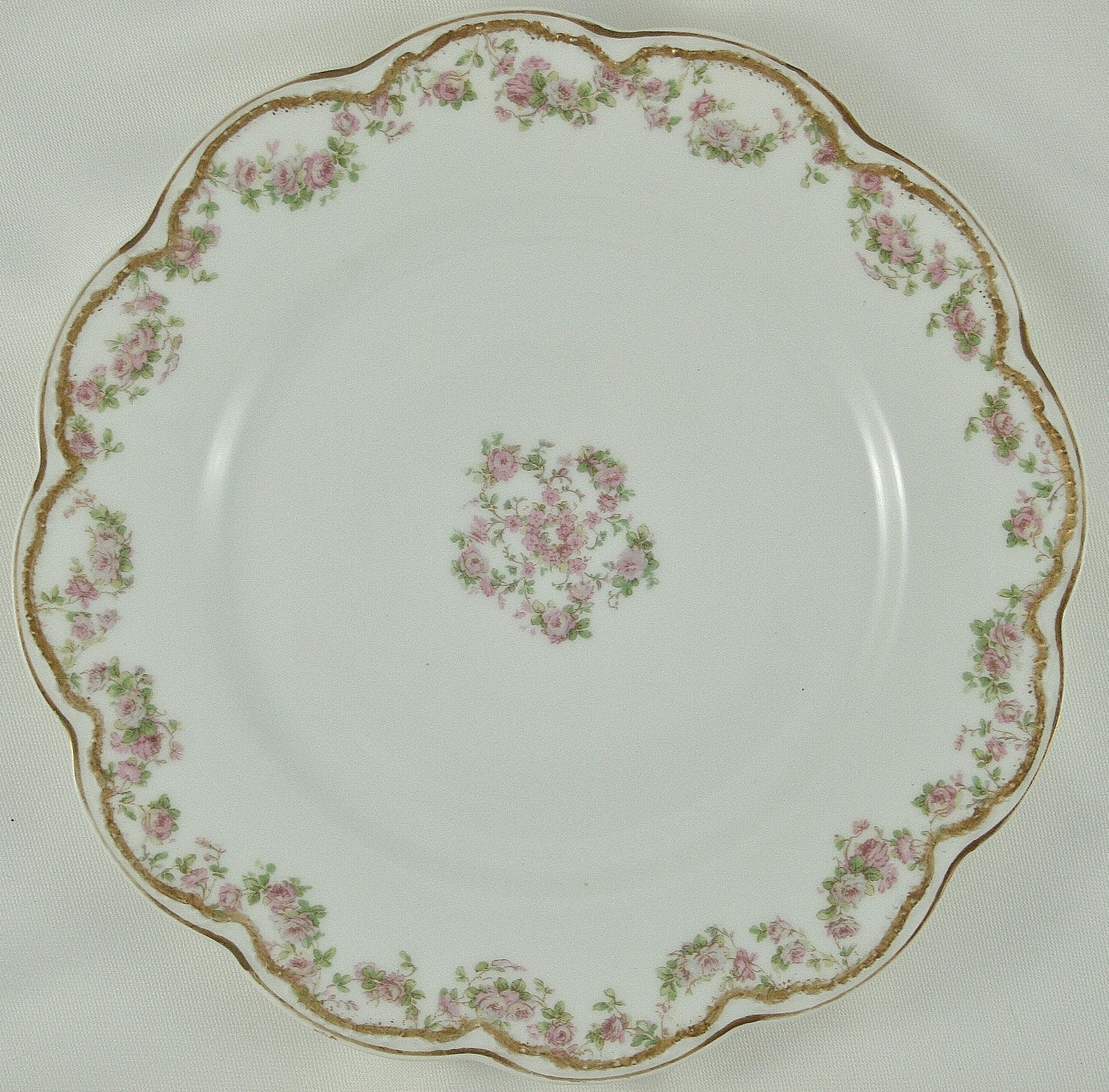 Vintage pink china plate