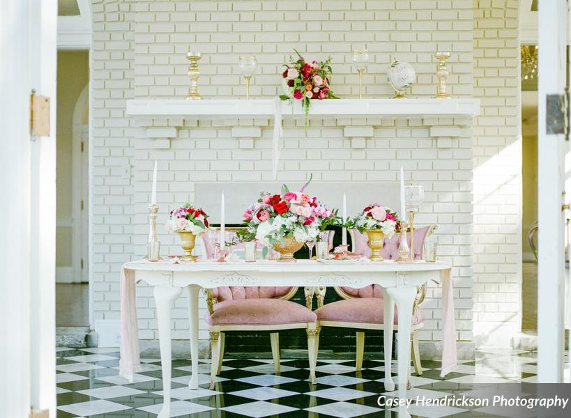 White Sweetheart Table