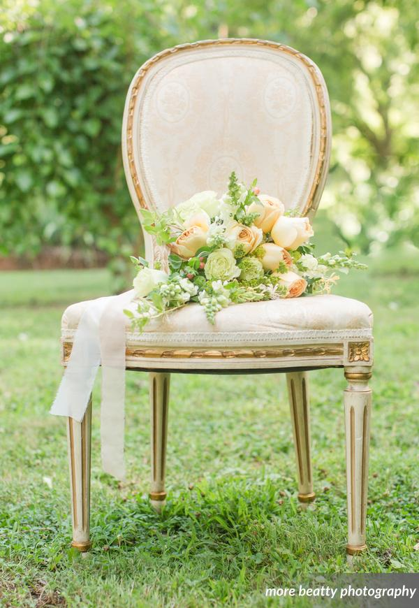 Gold and White Oval Back Chairs (4)