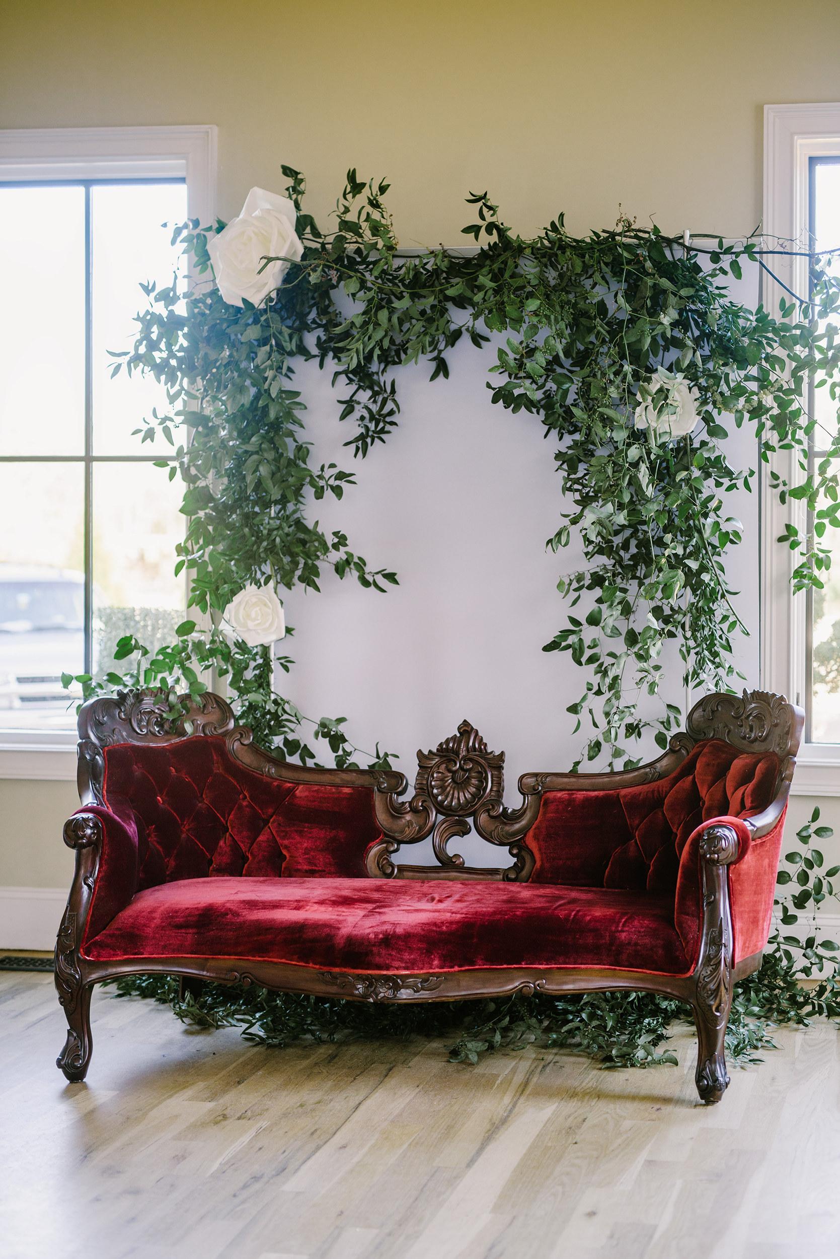 Juliet Burgundy Sofa