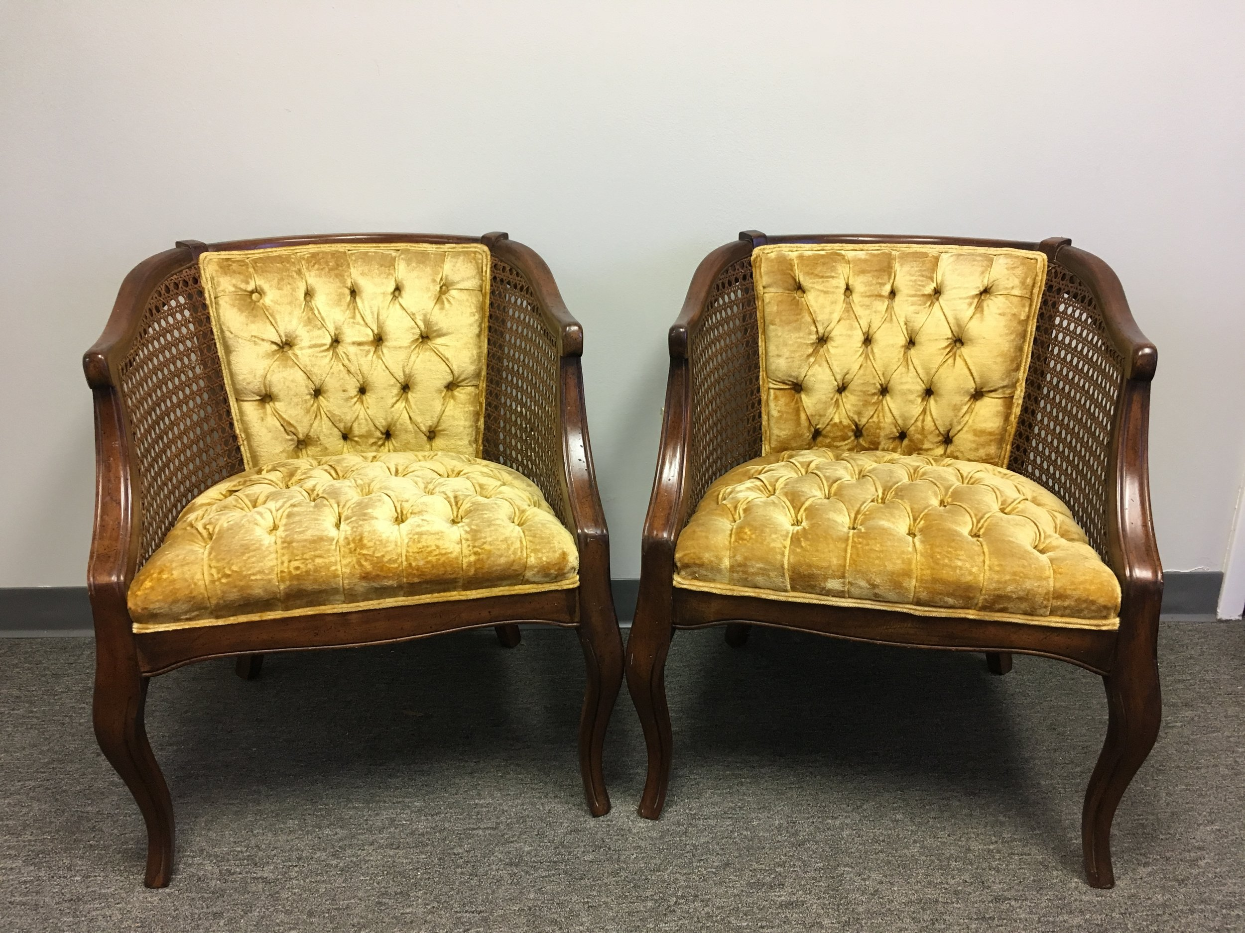 Gold Tufted Chairs (2)