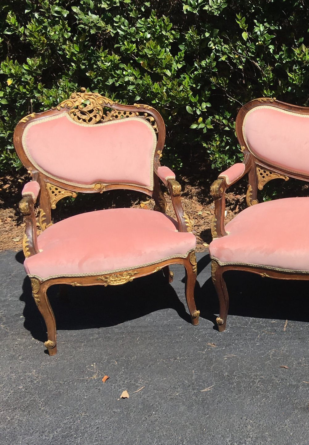 Pretty In Pink Arm Chairs (2)
