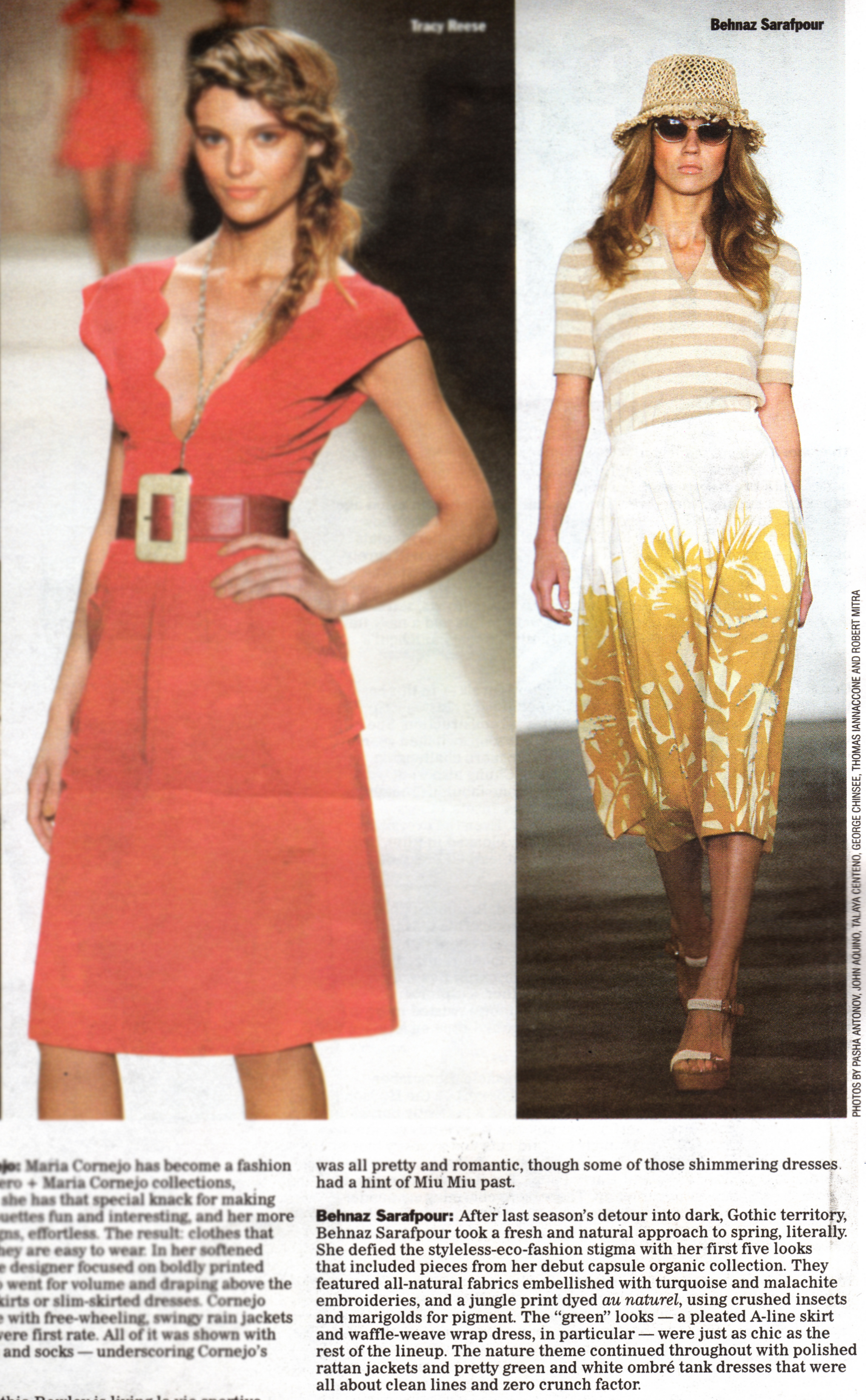 Behnaz Sarafpour - WWD - September 10, 2008