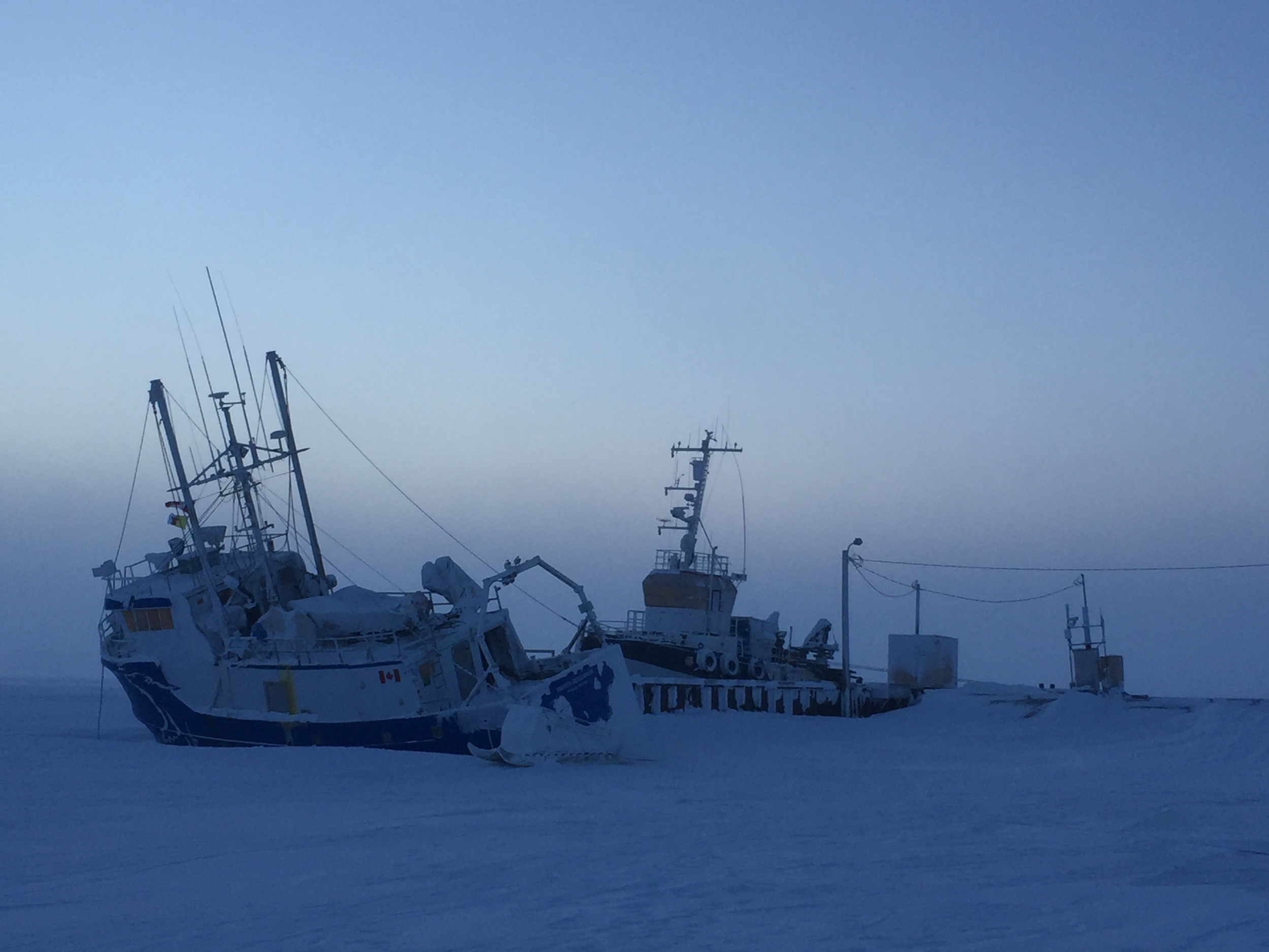 It got chilly in Cambridge Bay