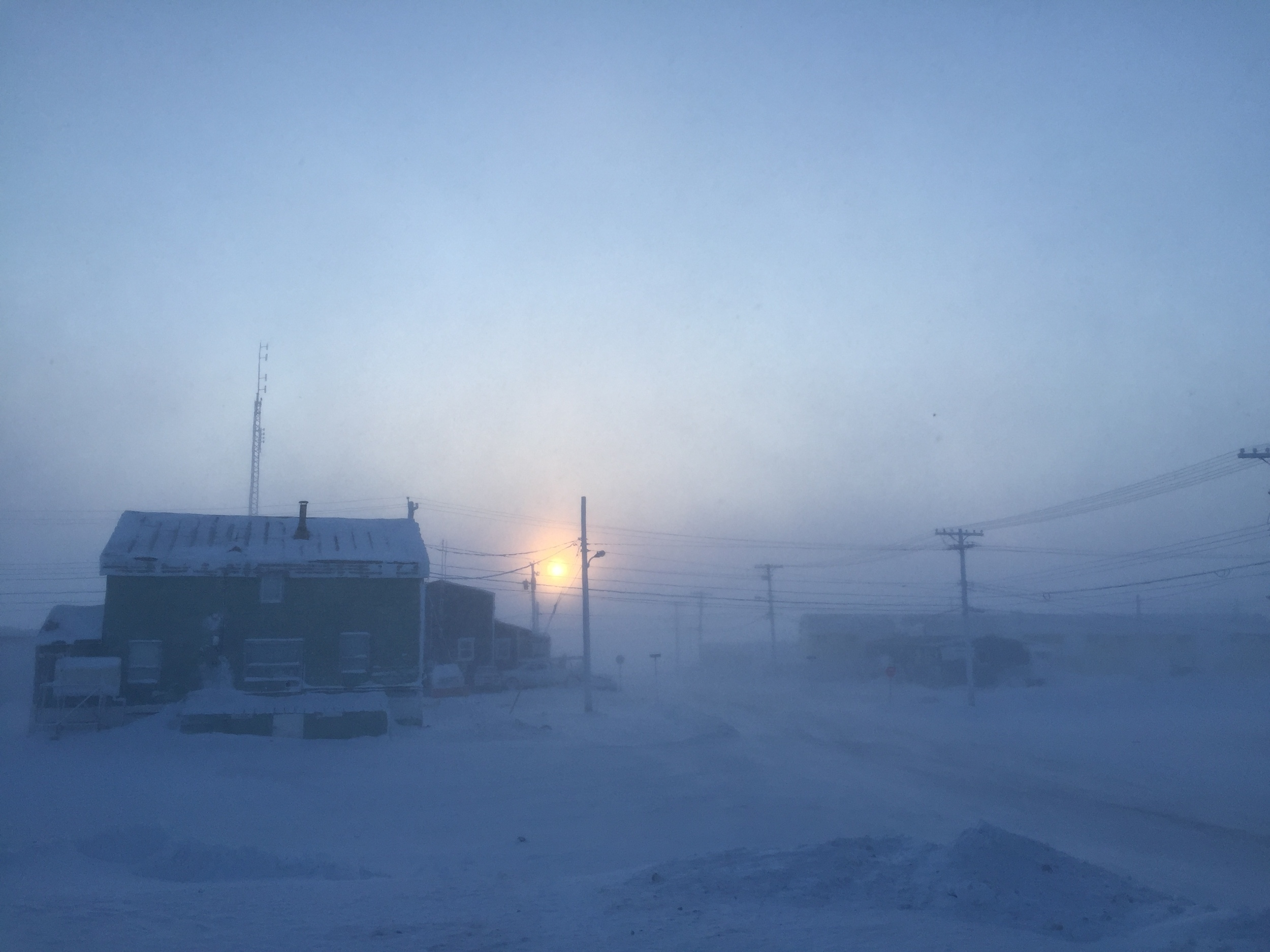 Arriving in Cambridge Bay - Chilly