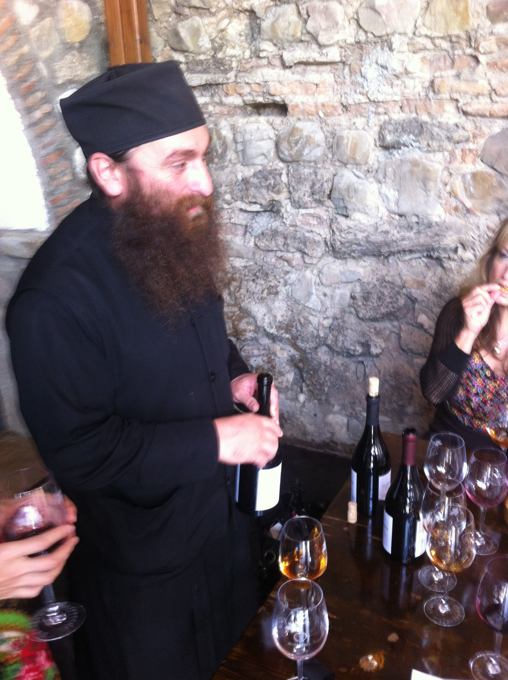 Father Garesim; a Master Winemaker at Alaverdi, Georgia