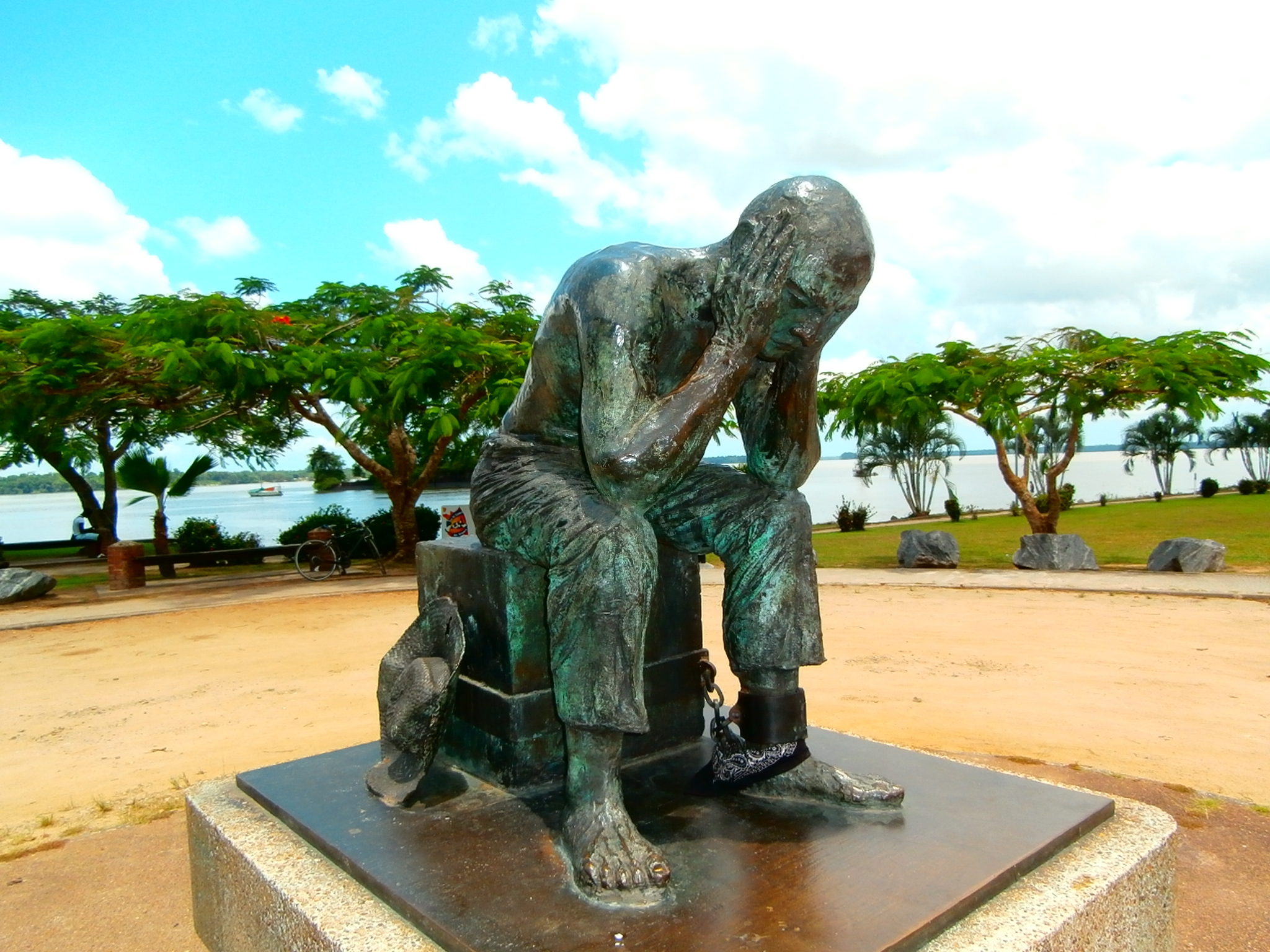 """The Convict"" - Statue in St. Laurent du Maroni, French Guyana"