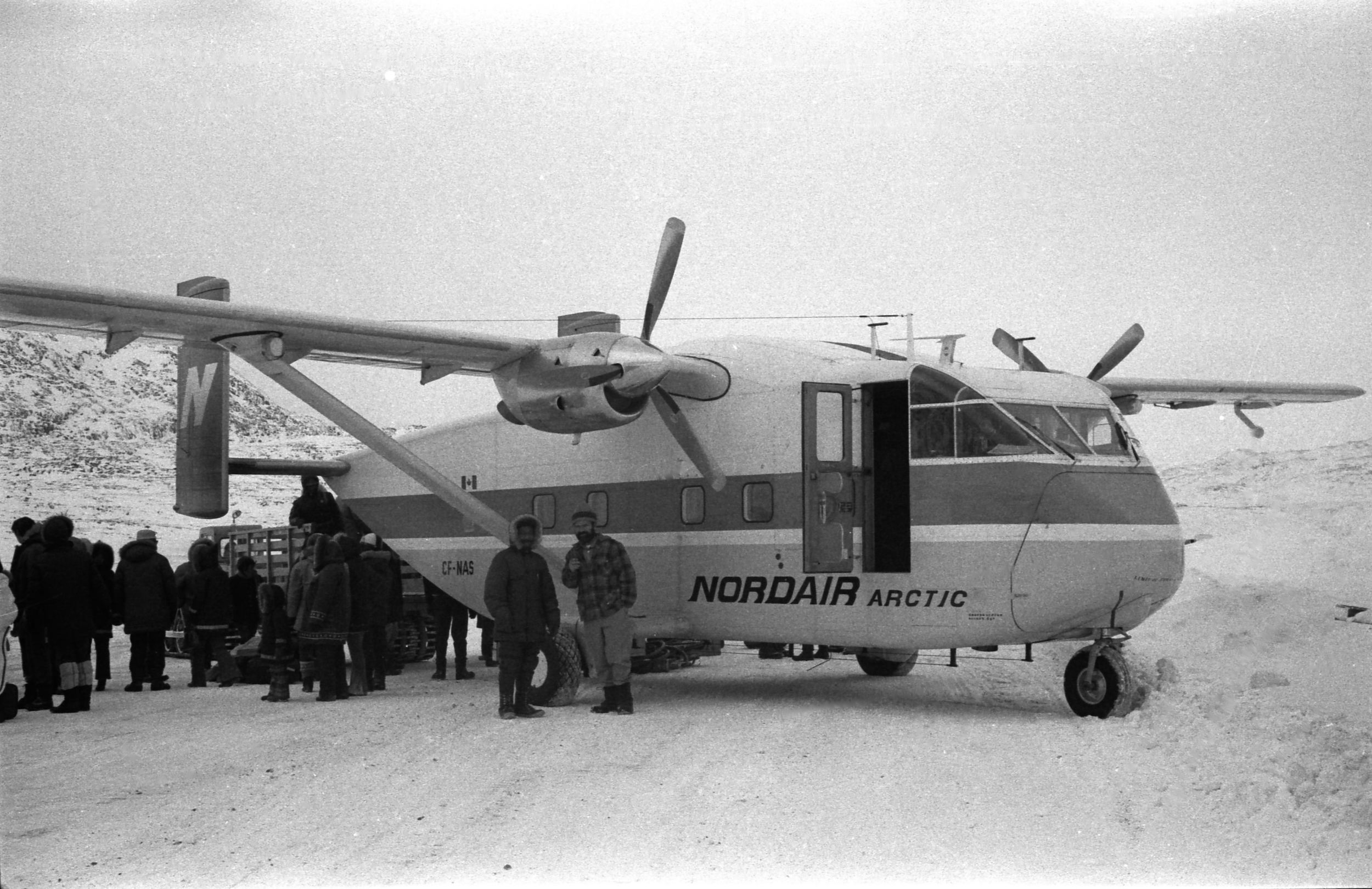 Above: The original airstrip in Cape Dorset near Dead Dog Lake.  Photo: HH Johnston Collection, courtesy Sean Johnston