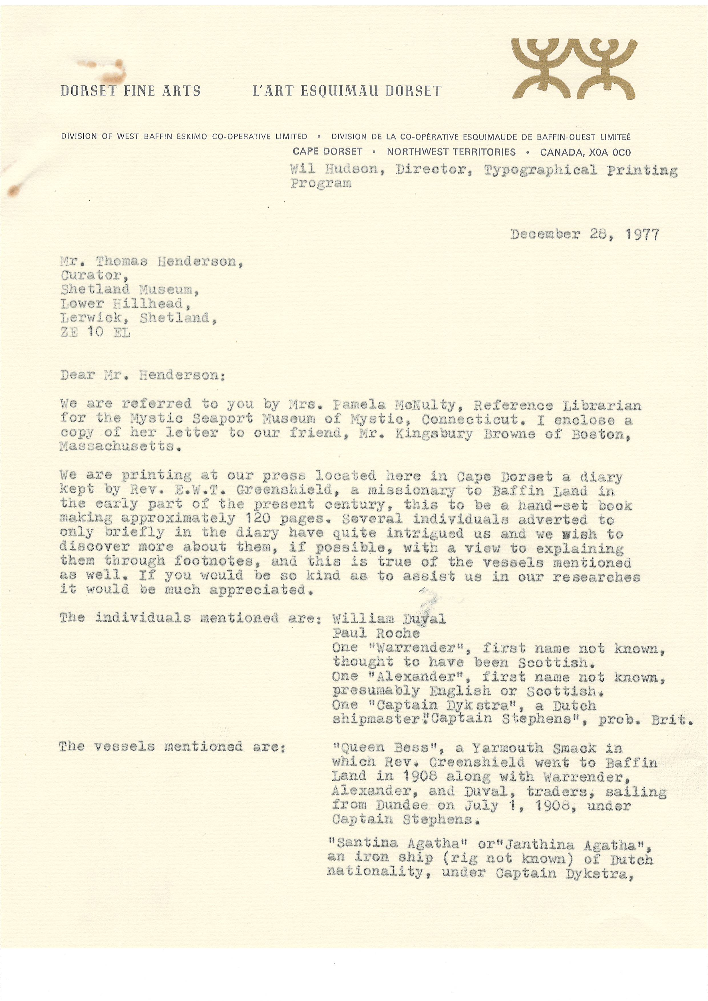 Scanned correspondence collection Laura Walz, Powell River British Columbia (1 of 2)
