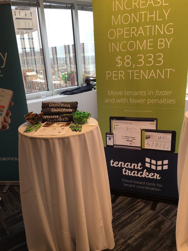 Tenant Tracker's booth at CRE Disrupt in Chicago, IL.