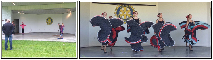 Left: Rehearsals the week prior. Right: Spanish Dance Item to the Gypsy Kings 'La Quiero'
