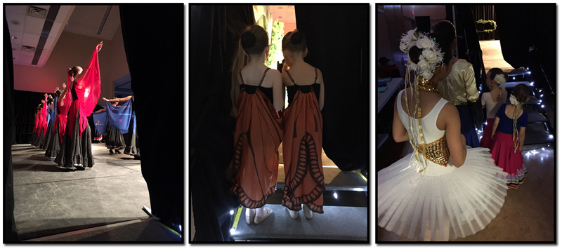 Backstage during the afternoon matinee performance.