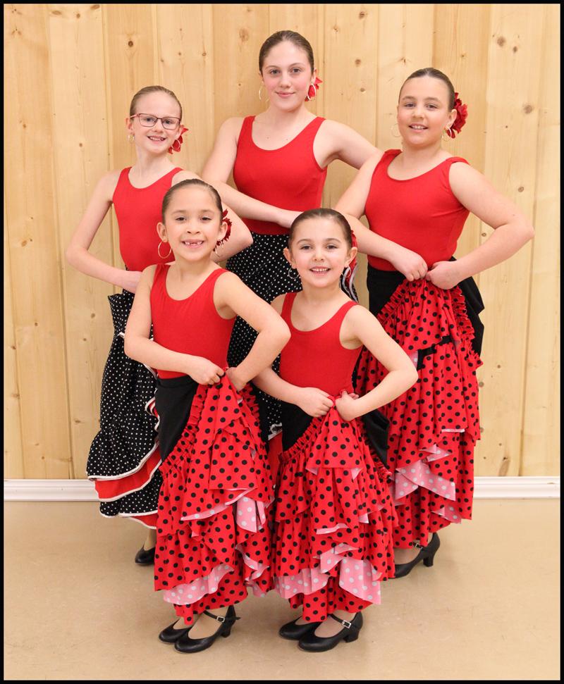 Back Row: Dani Kuzio (11), Nia Kuzio (14), Kinley Stewart (9)  Front Row: Danika Fader (7), Kate van Rensburg (5)