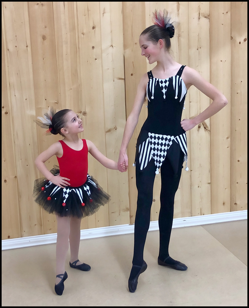 Jesters (Demi-Character Ballet Group): Kate & Avery during rehearsals.