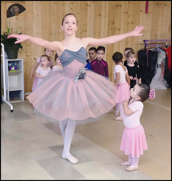 After Megan's performance for the Ballerinis & Dance Movement Class. (Classical Ballet Solo)
