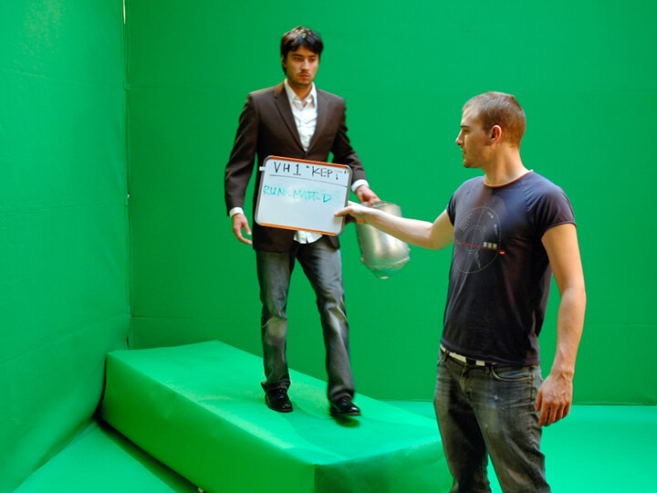 Thats me holding the slate!