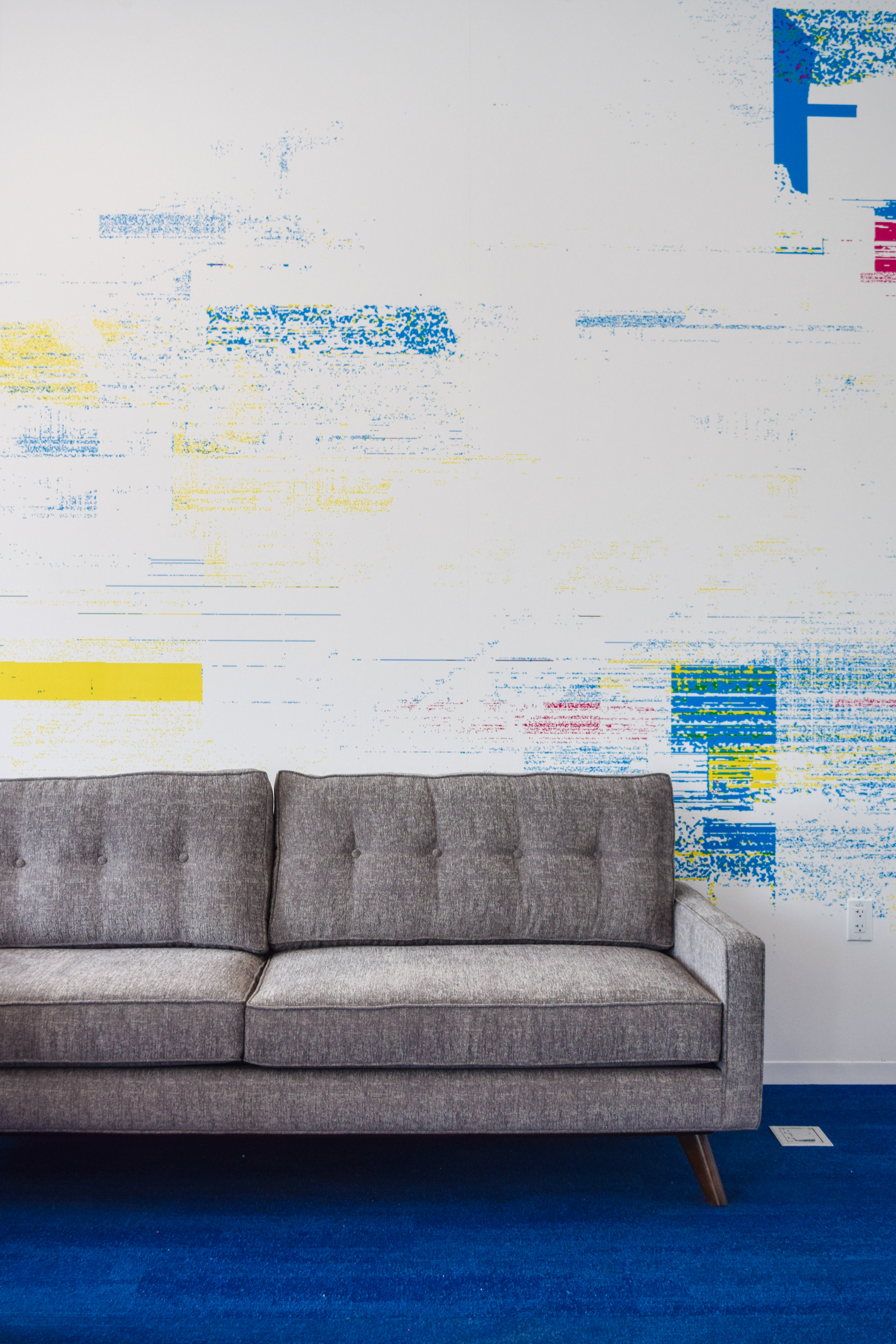 Design of wall mural in tech support office