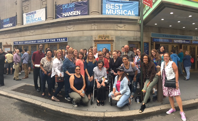 Talbot educators travel to see Dear Evan Hansen on Broadway - an award winning musical about teen suicide.