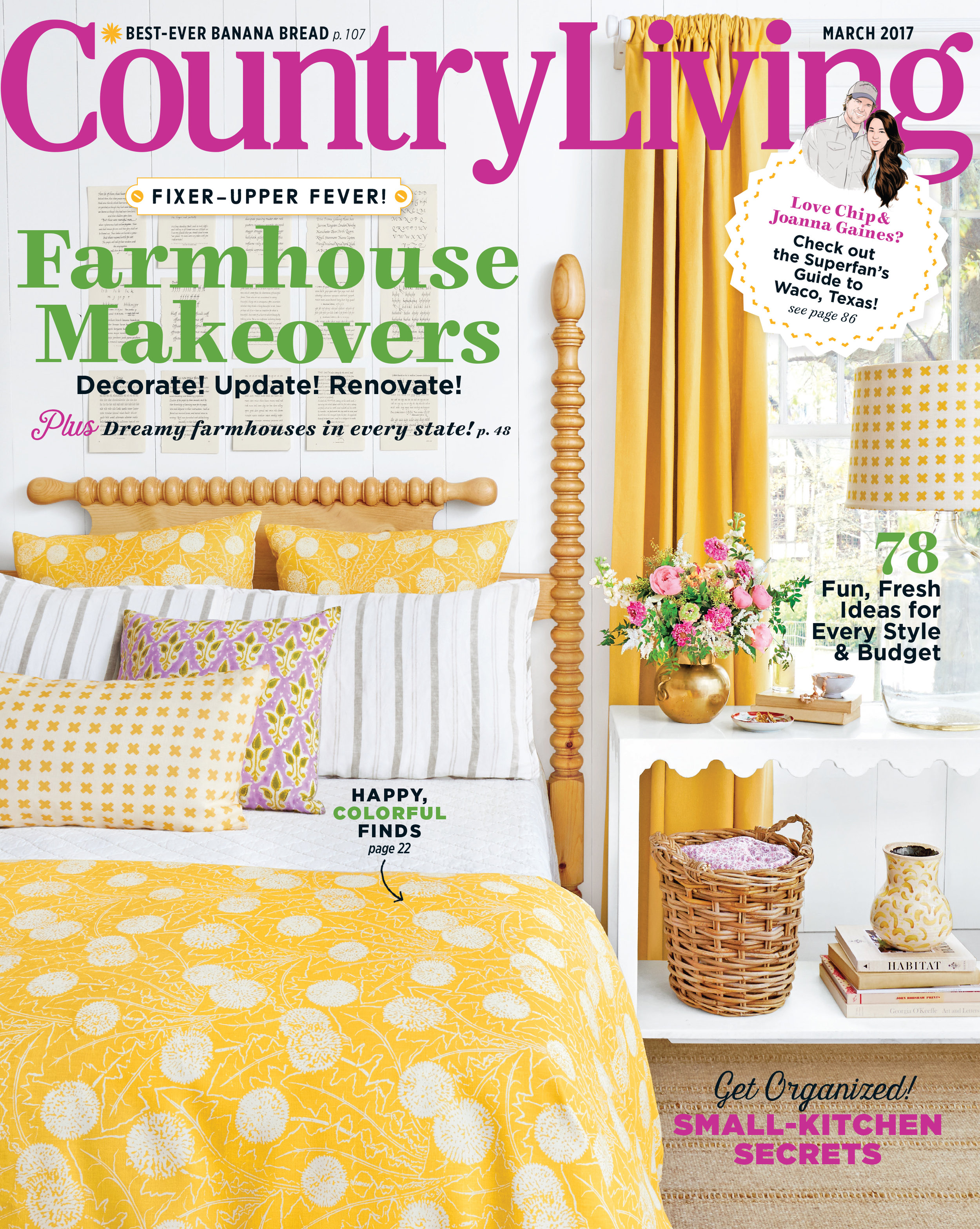 Country Living Cover March 2017 Featuring  Palermo (Mustard)