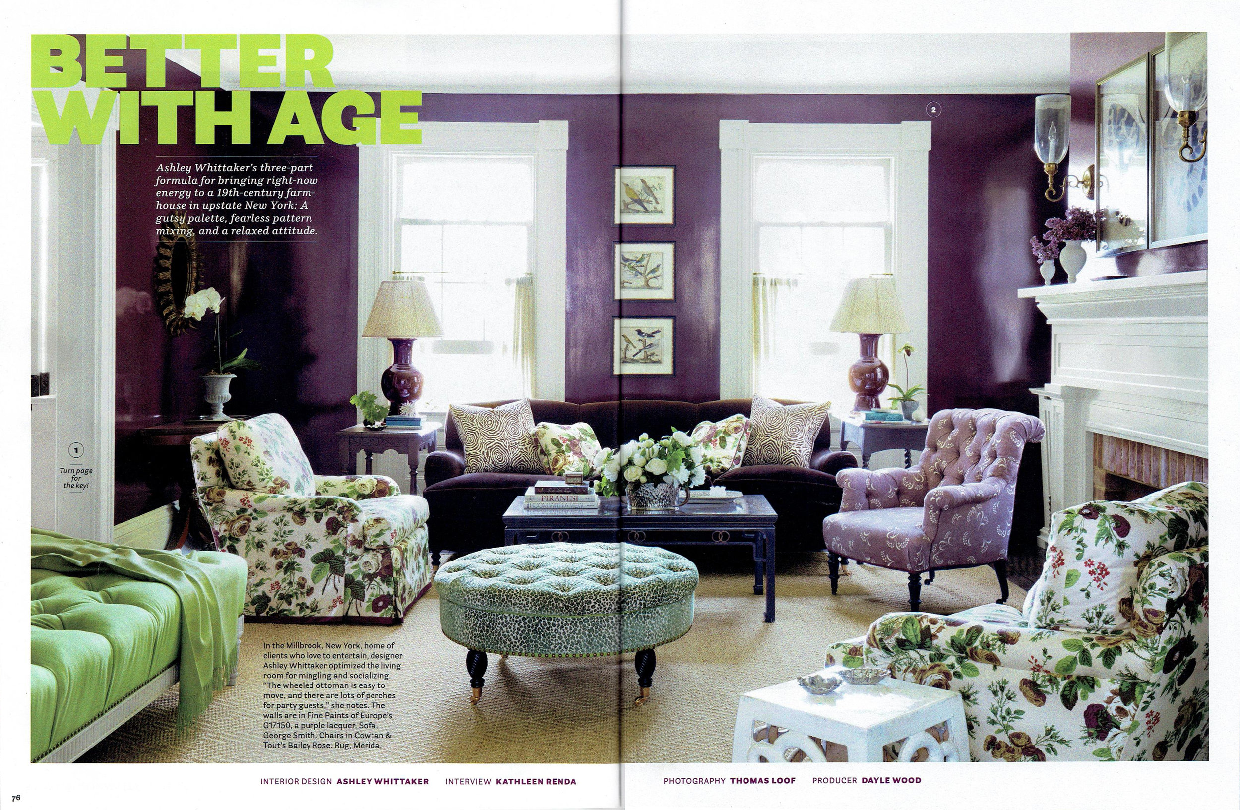 House Beautiful April 2017 : Featuring  Mimosa (Viola)