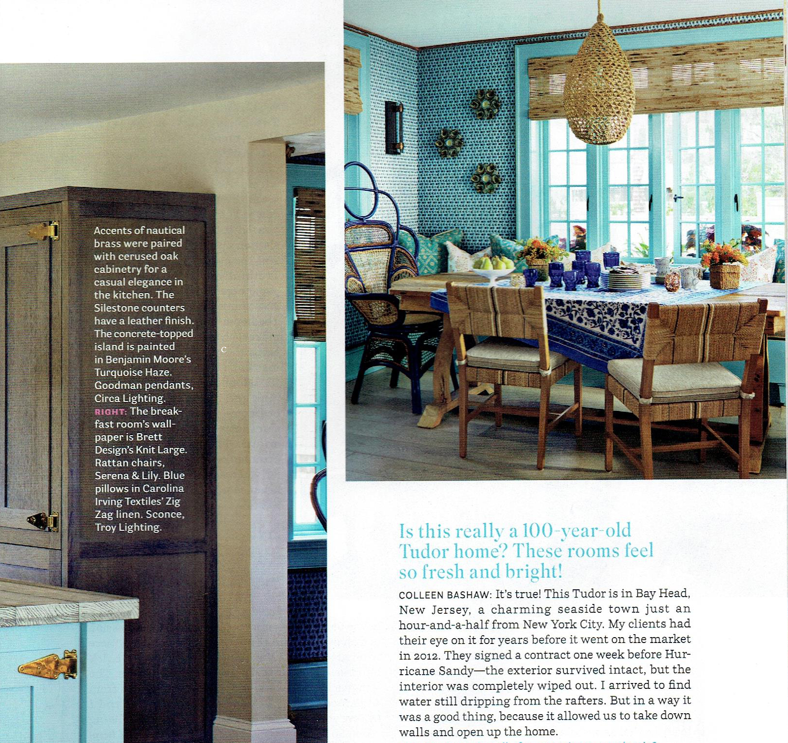 House Beautiful October 2016 : Kitchen Special Issue : Featuring  ZigZag (Nile)