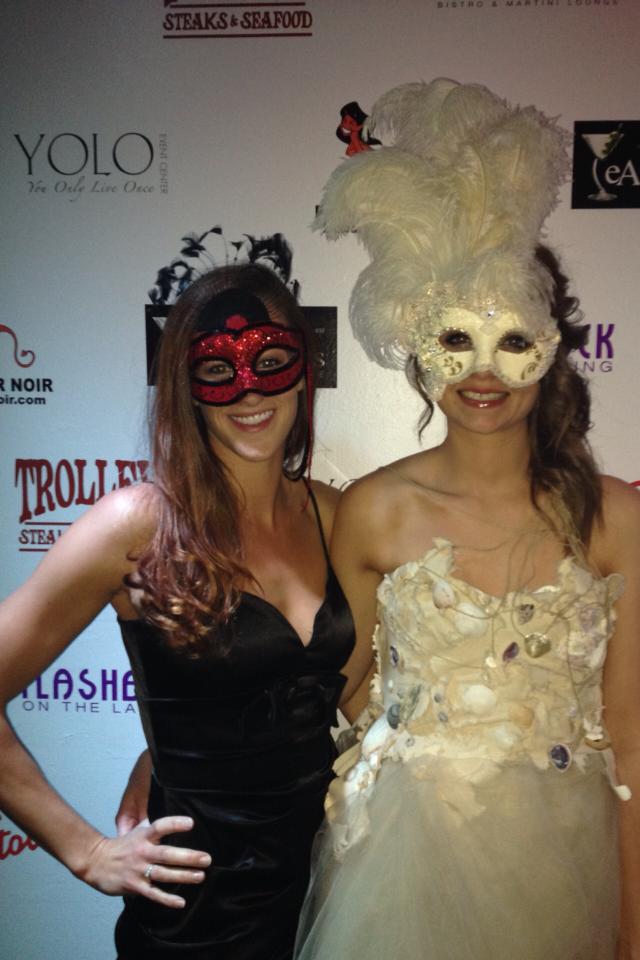 Masked ladies Katy & Kari