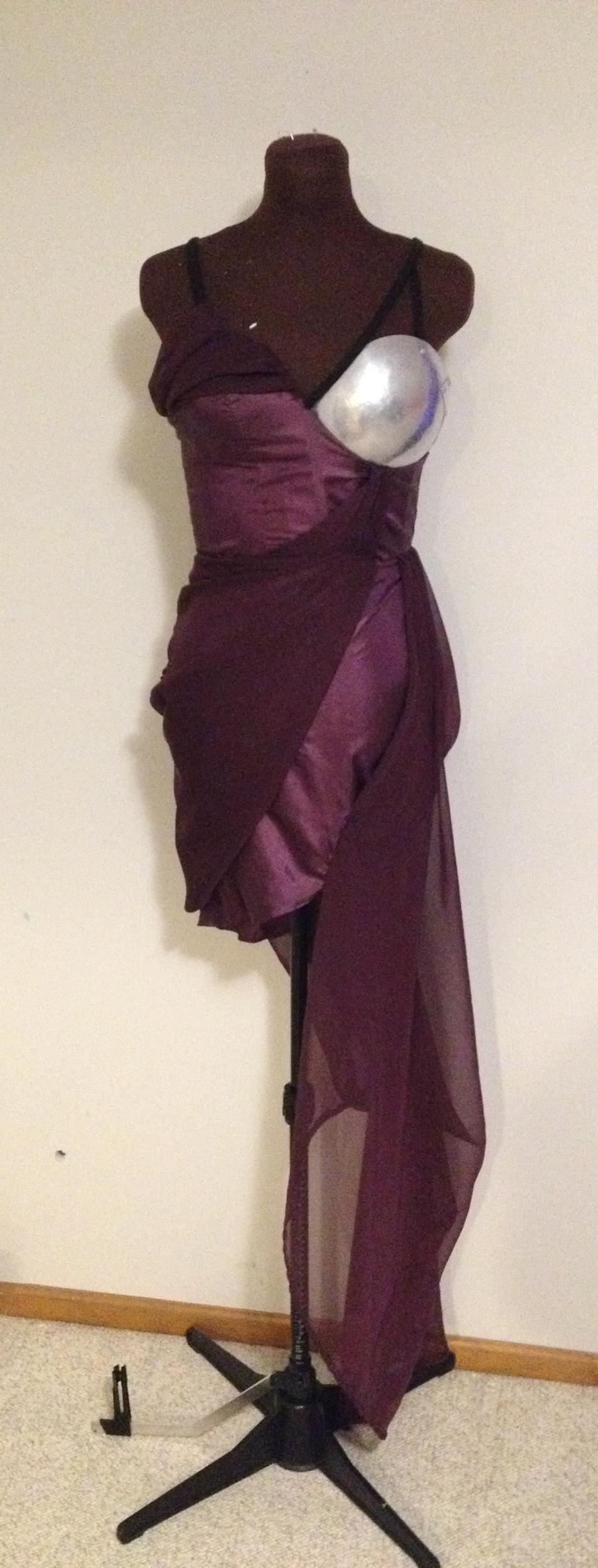 Ana's custom designed birthday dress.