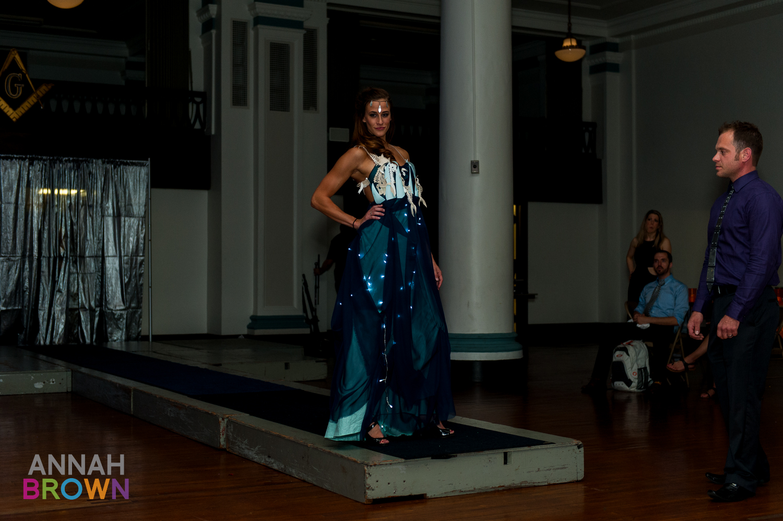 Katy in Dark Luminous Paradise gown