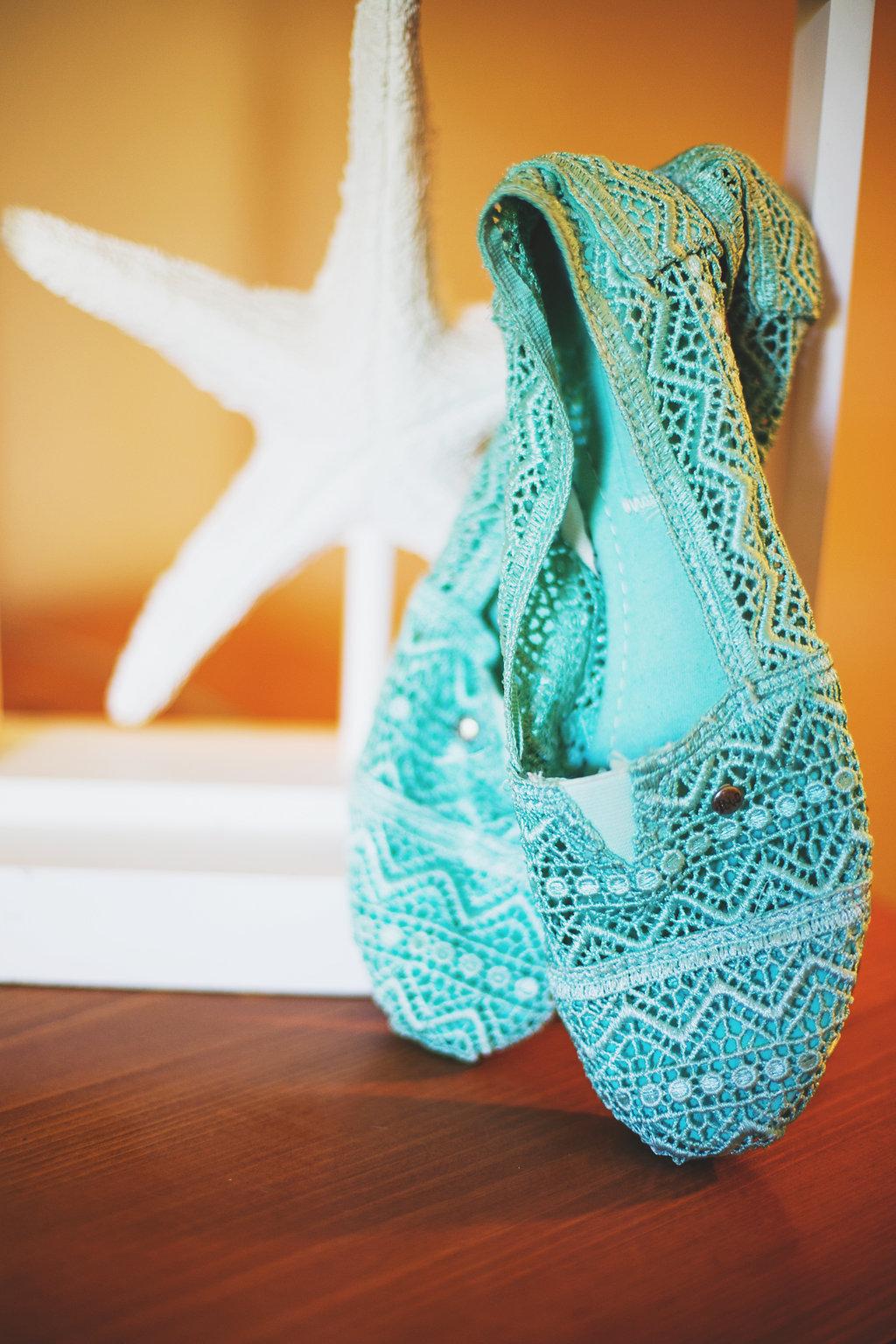 Laura + Matt Featured DIY Wedding // The Overwhelmed Bride Bridal Lifestyle + Wedding Blog // Wedding Shoes TOMS