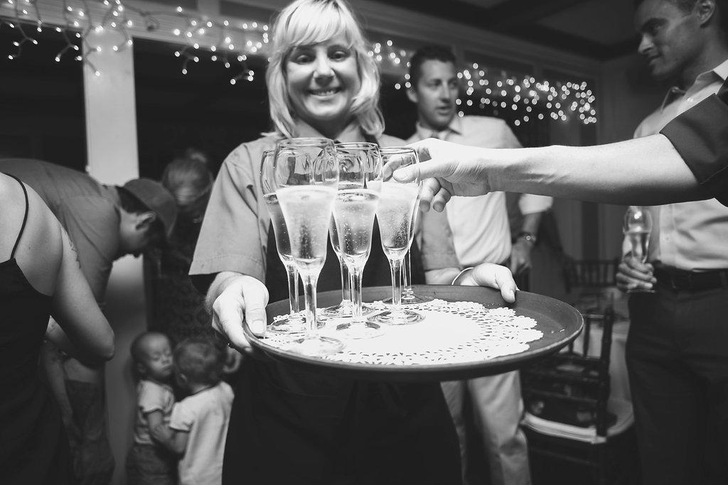 Laura + Matt Featured DIY Wedding // The Overwhelmed Bride Bridal Lifestyle + Wedding Blog // Champagne Toast