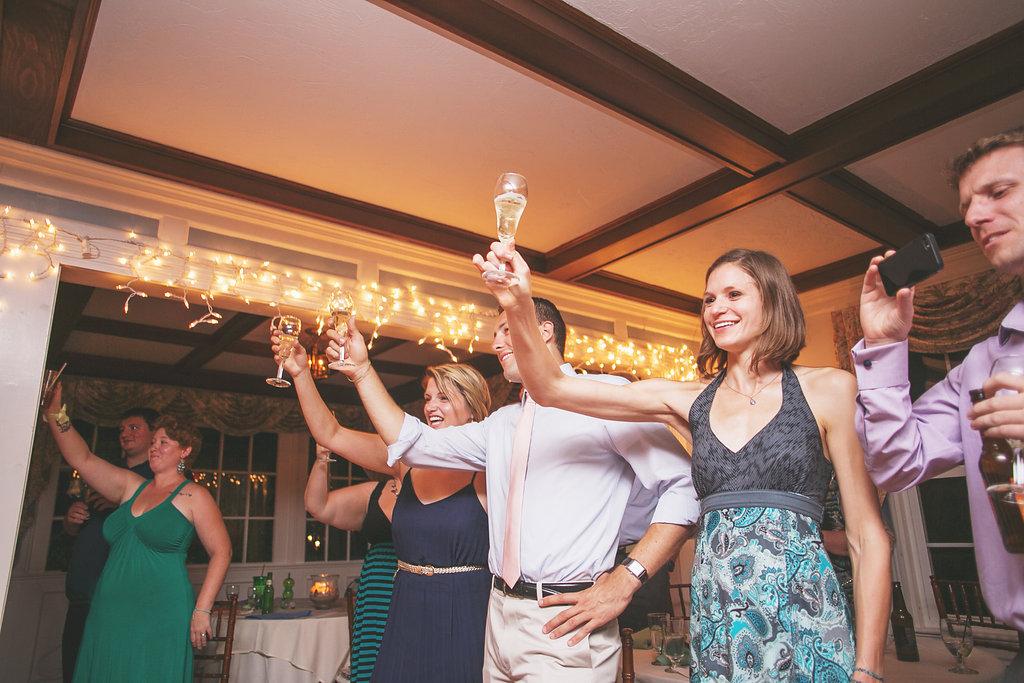 Laura + Matt Featured DIY Wedding // The Overwhelmed Bride Bridal Lifestyle + Wedding Blog // Champagen Toast