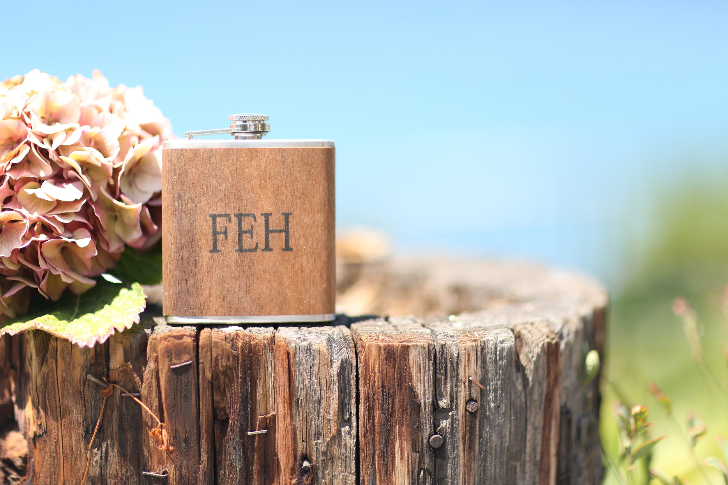 Monogrammed Groomsman Gift Flask // The Overwhelmed Bride Wedding Blog + Southern California Wedding Planner