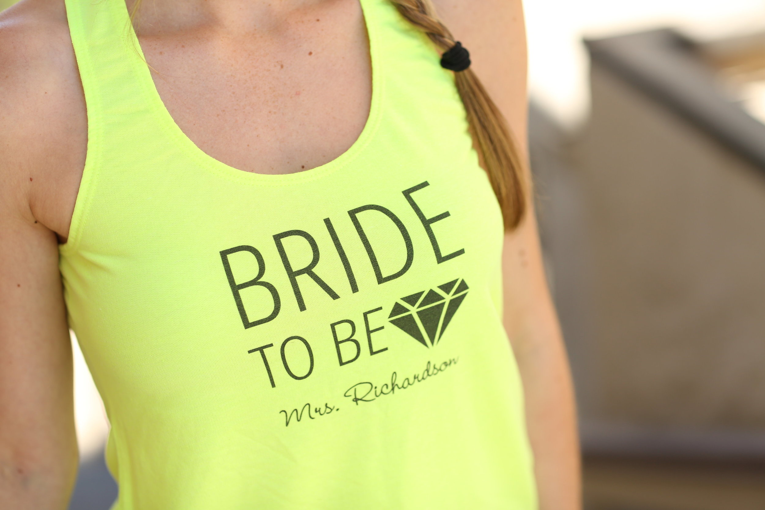 Bride to be Tank by Bridal Party Tees // The Overwhelmed Bride Wedding Blog + Southern California Wedding Planner
