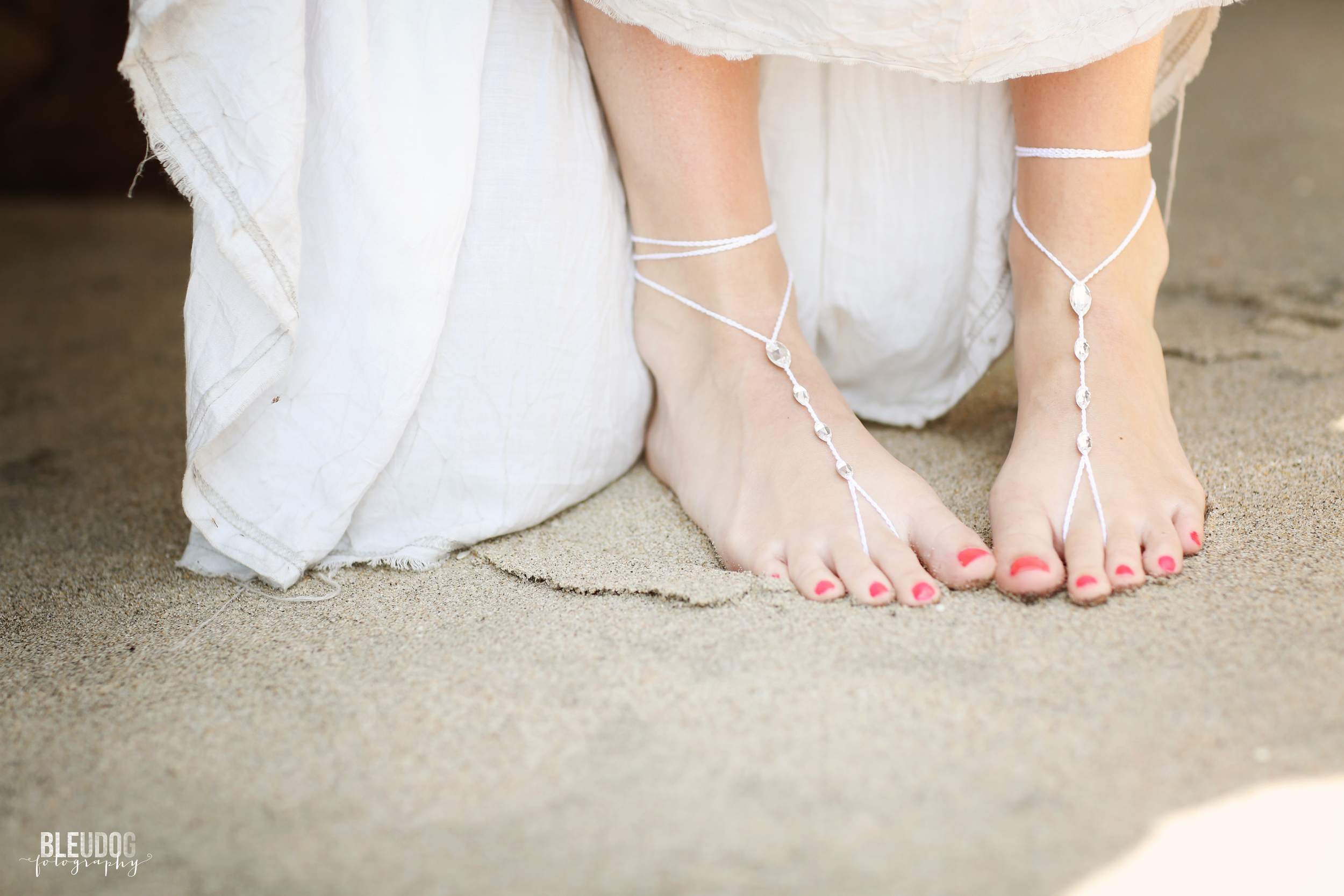 Barefoot Bridal Sandals // Modern Crochet Club on Etsy // The Overwhelmed Bride Wedding Blog + Southern California Wedding Planner