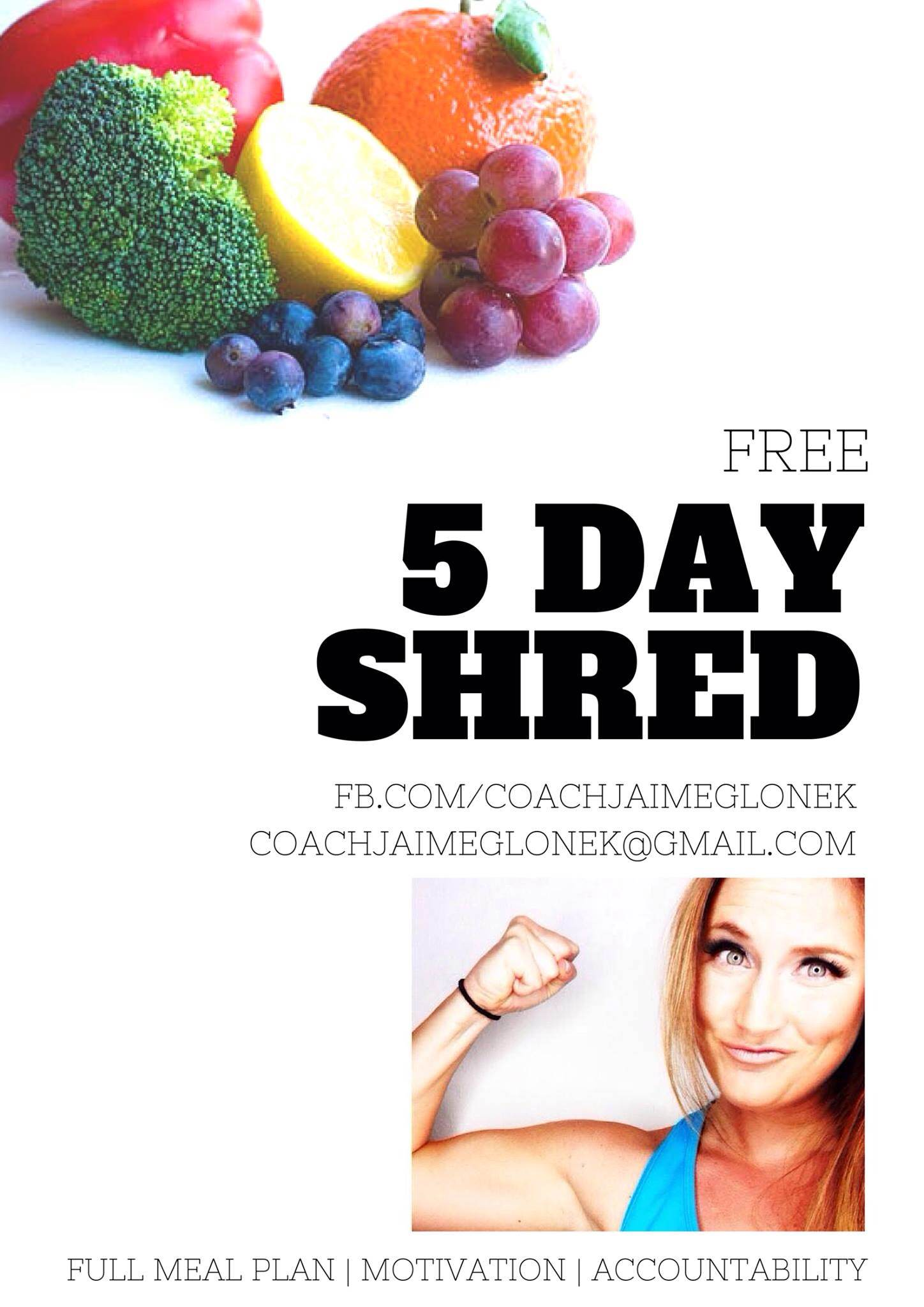 5 Day Shred // The Overwhelmed Bride Wedding Blog + Southern California Wedding Planner