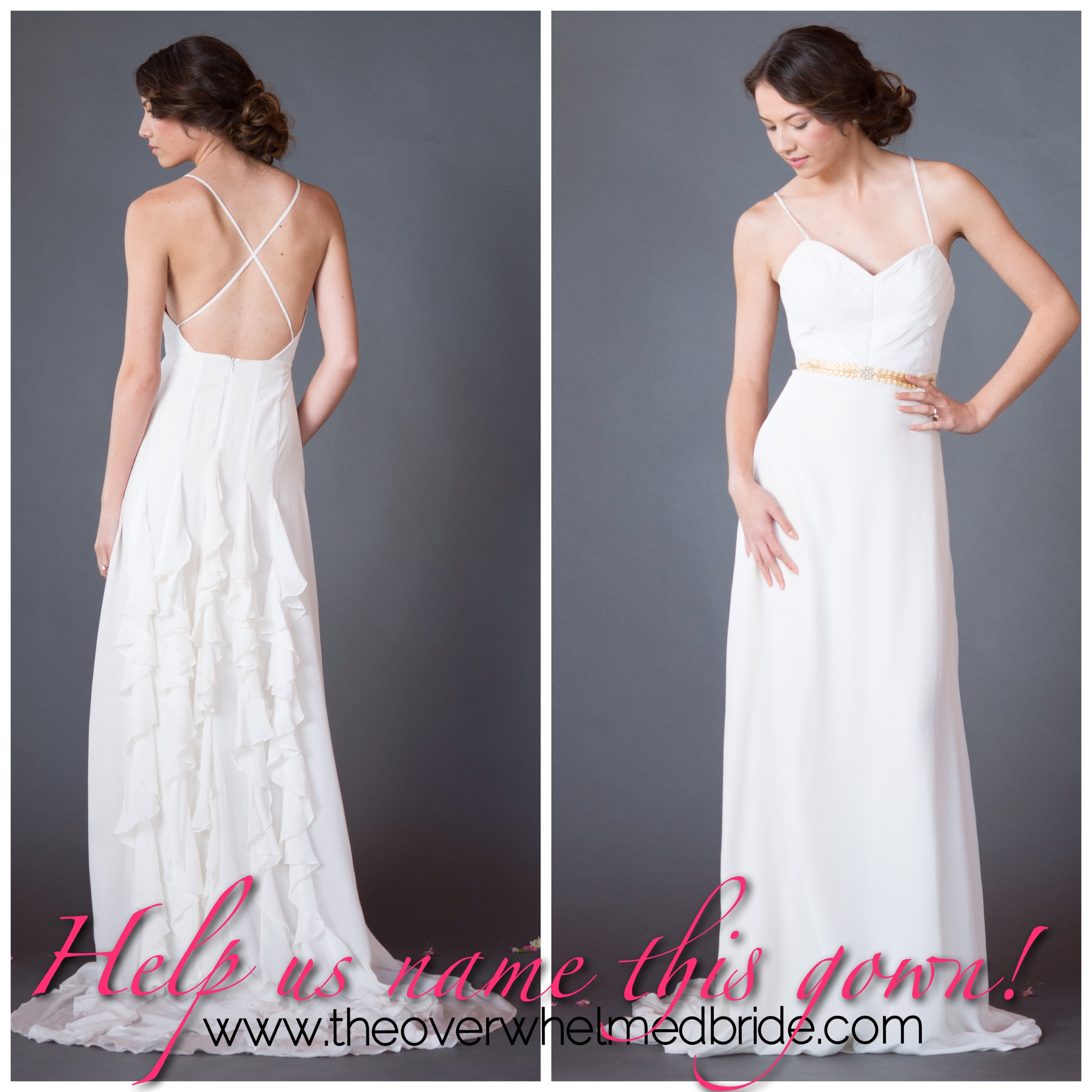 Help us name this Celia Grace Gown