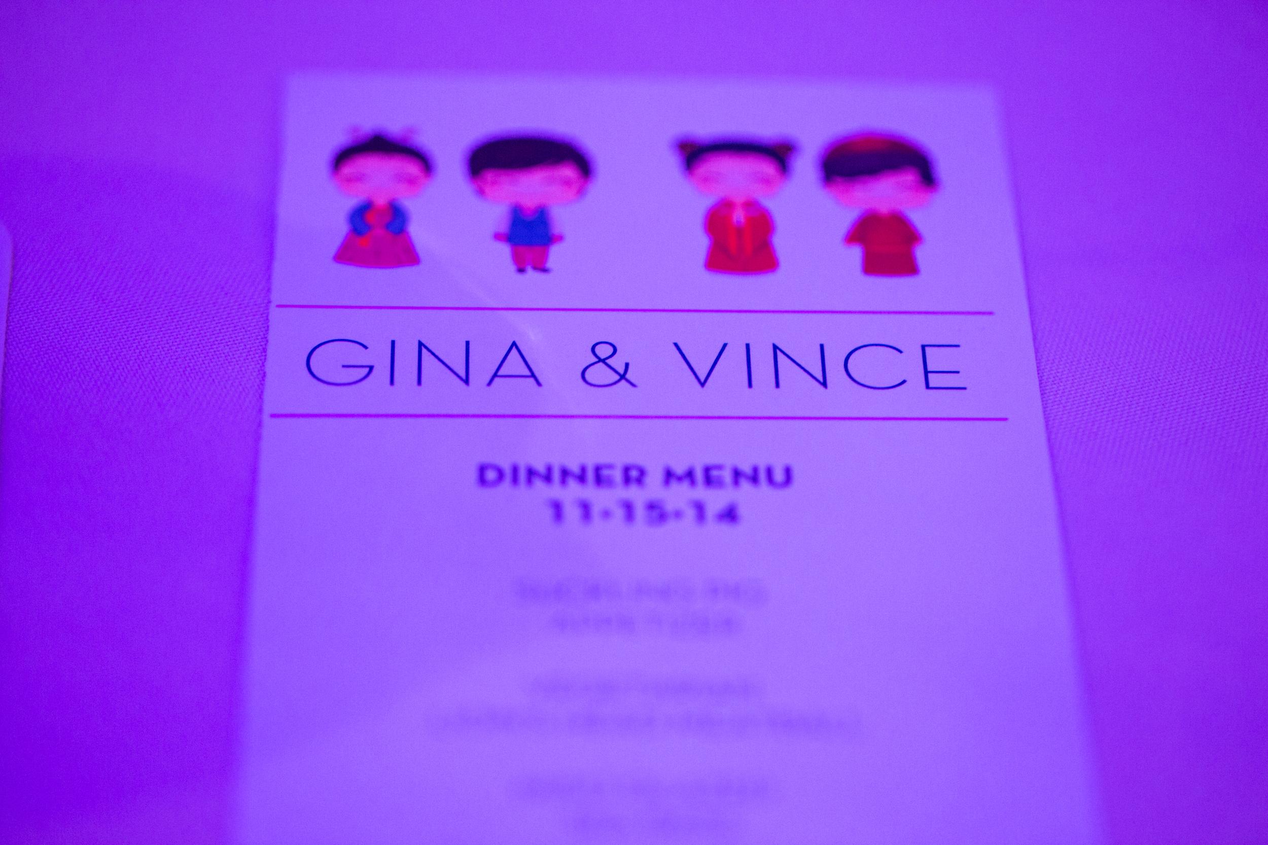 Pasadena Wedding at Castle Green // Menu Cards