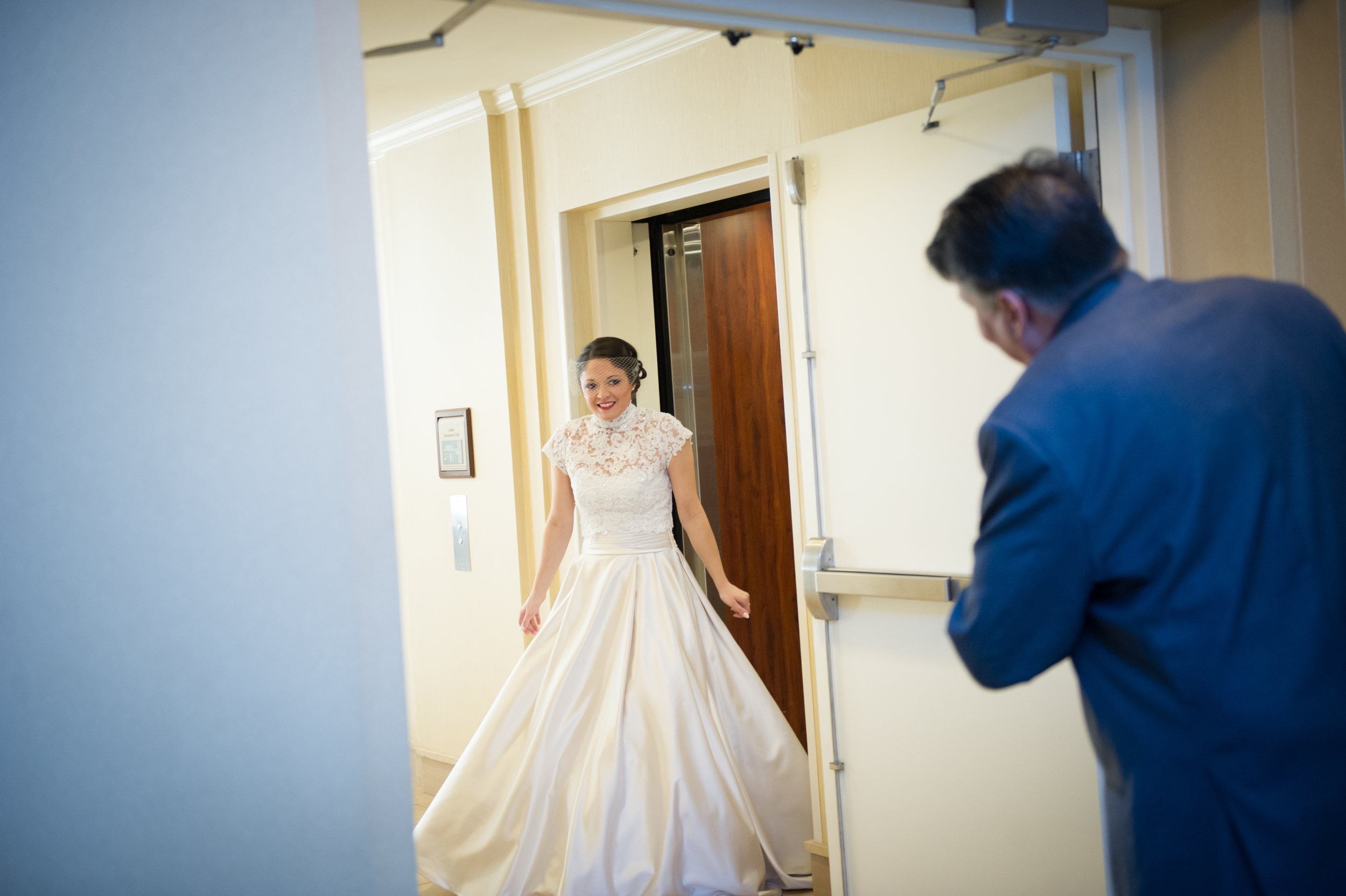 first look with the father of the bride