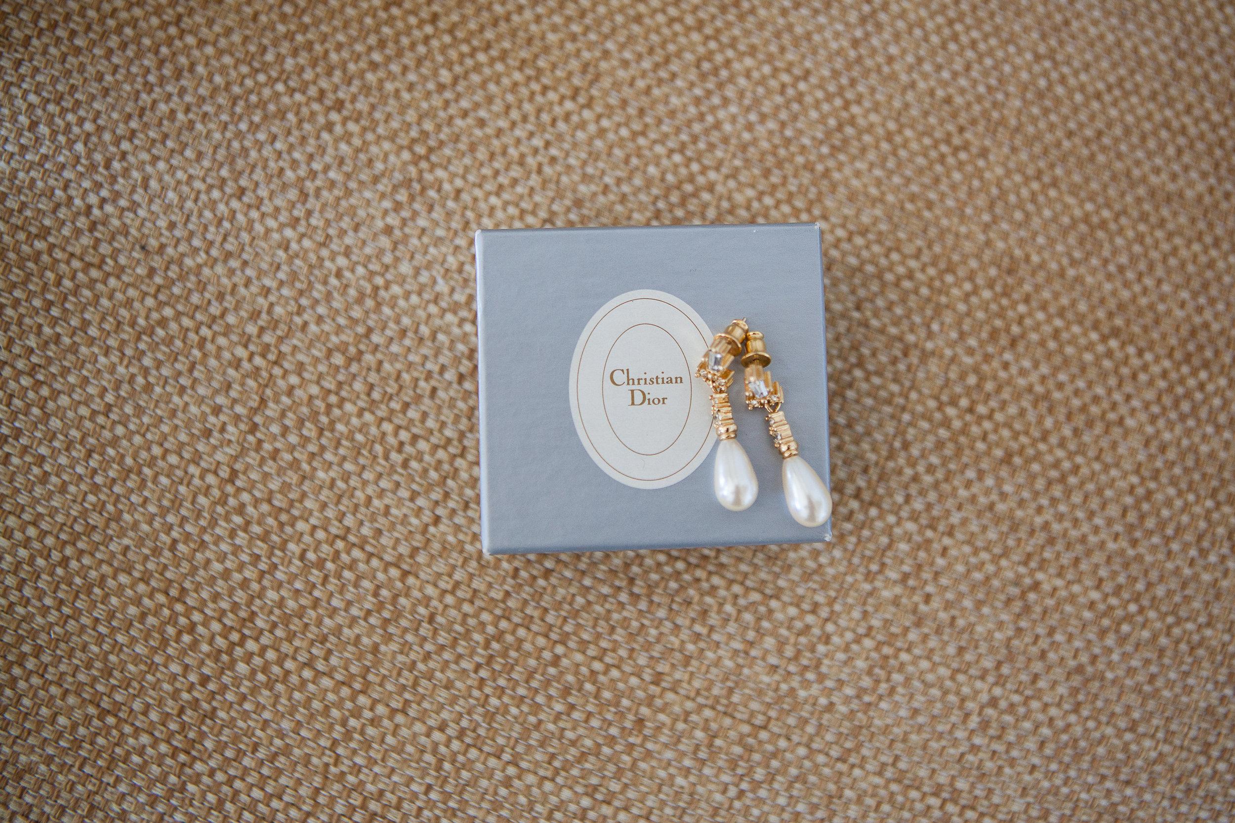 christian dior bridal earrings