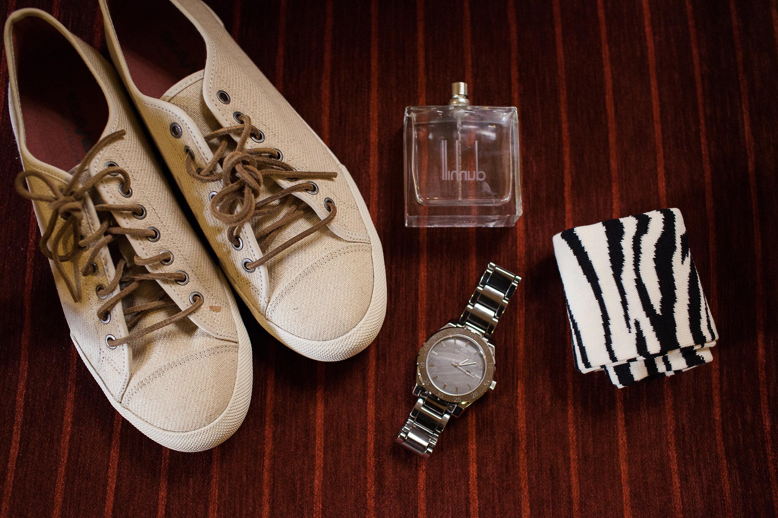 groom shoes, groom watch