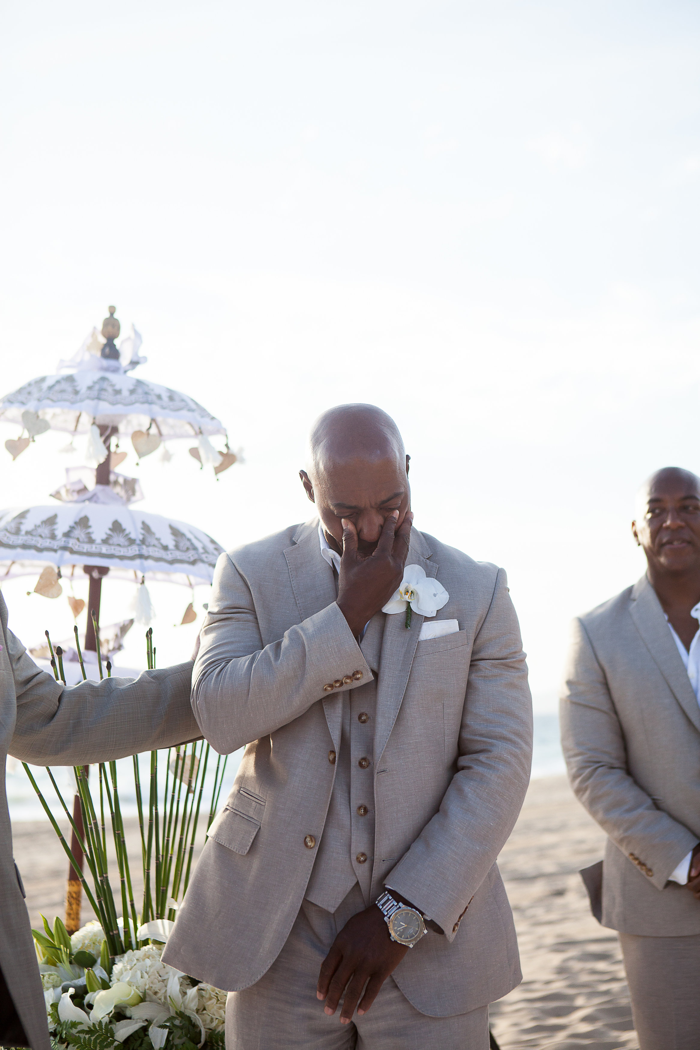 groom reaction shot