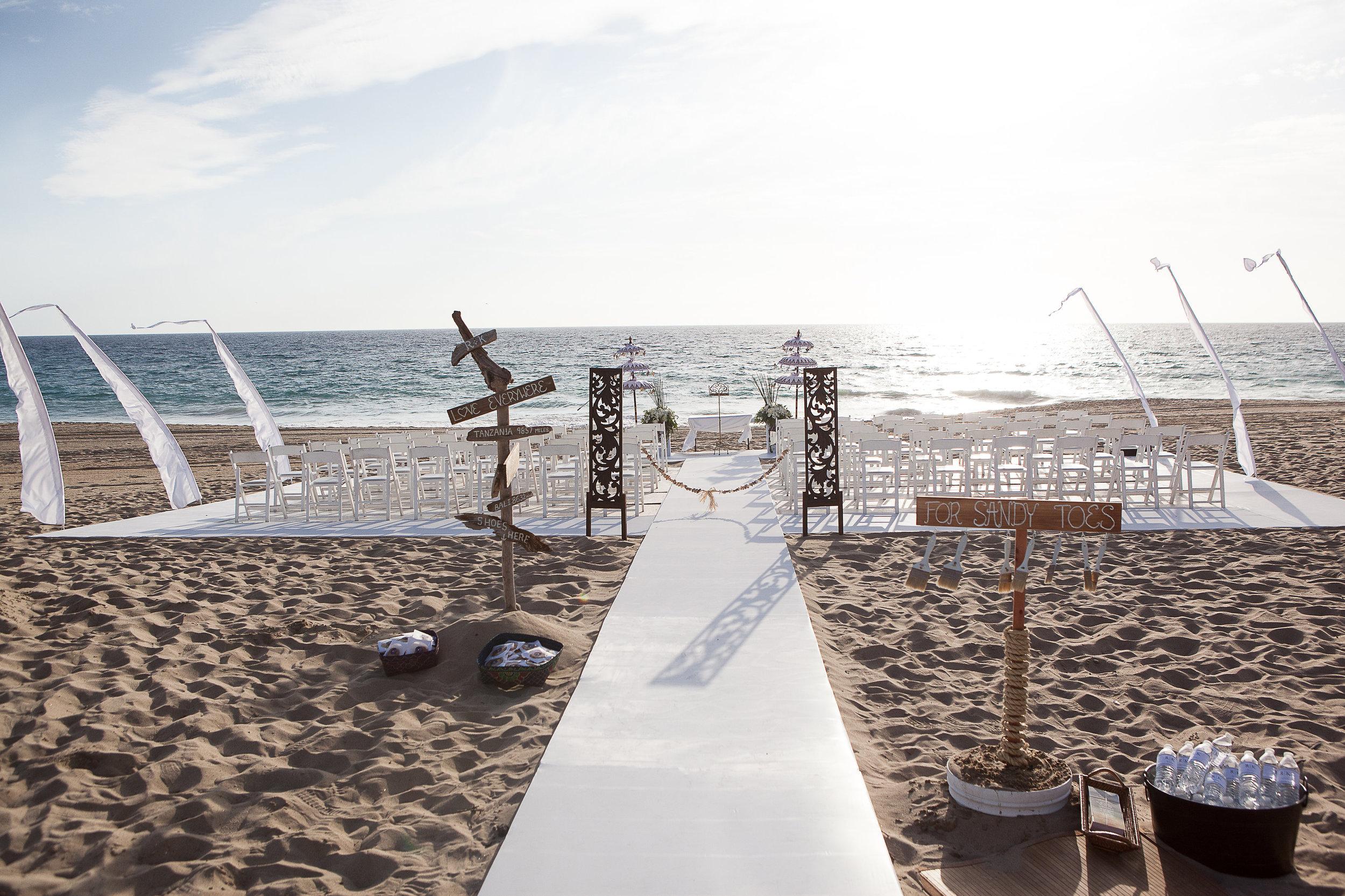 malibu beach ceremony