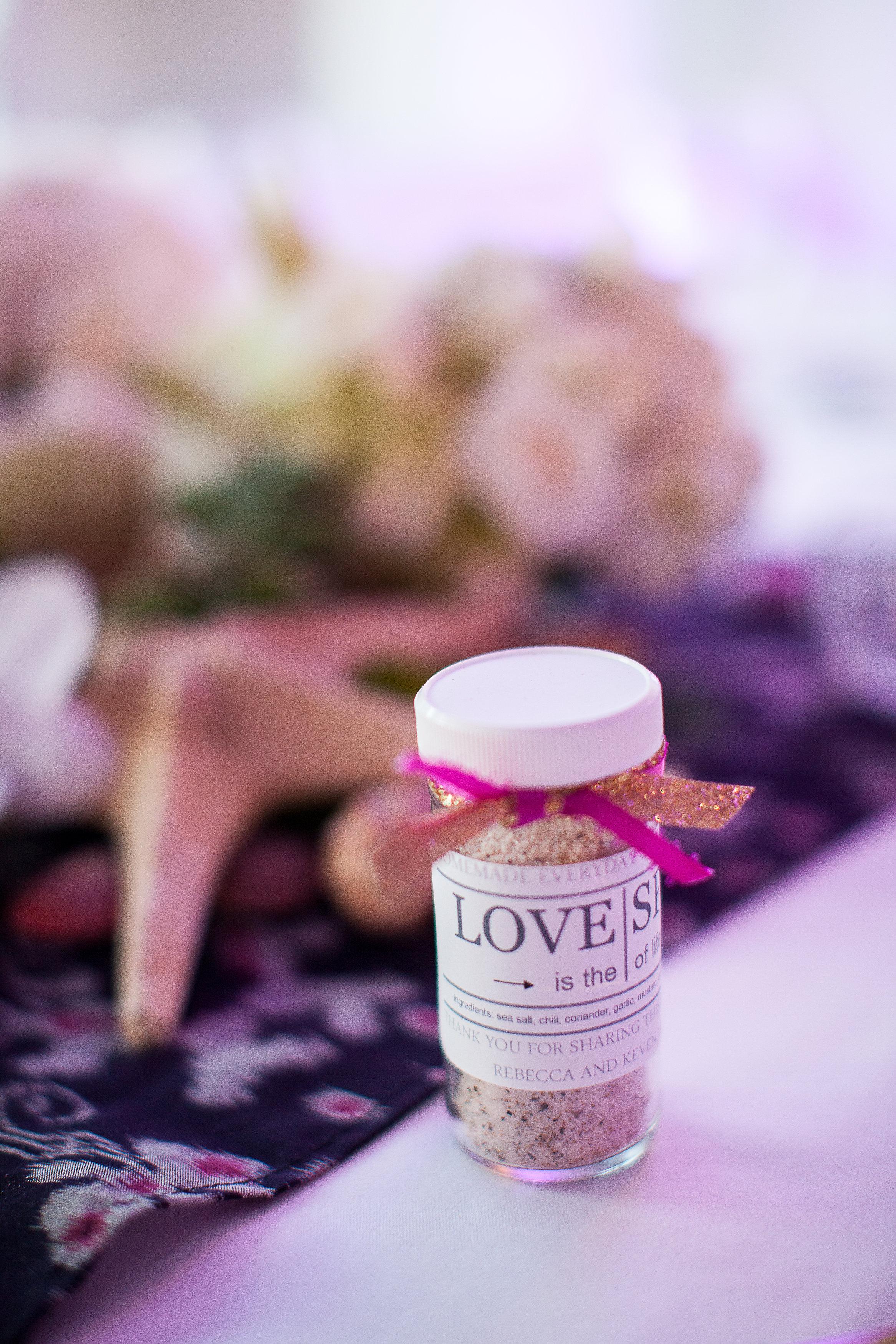 wedding favor spices