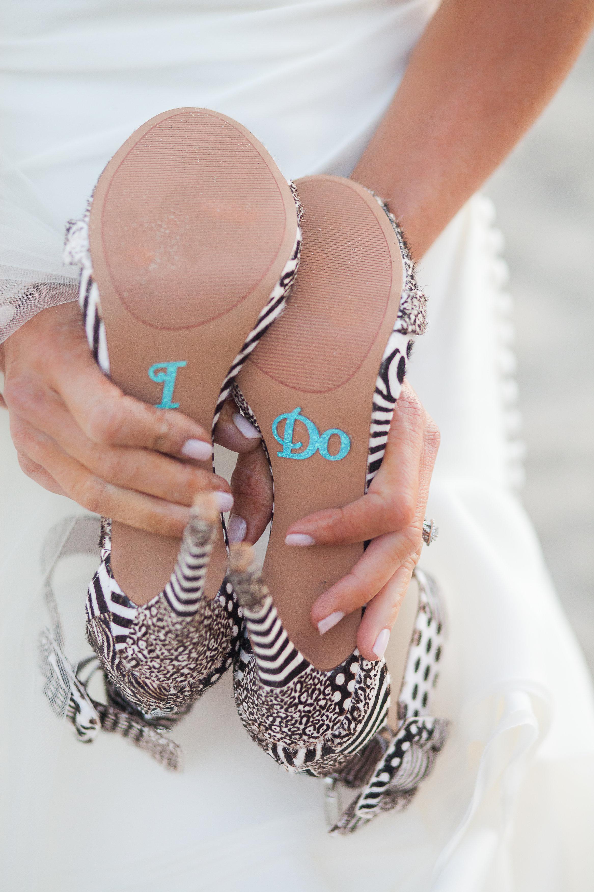 i do wedding heels stickers