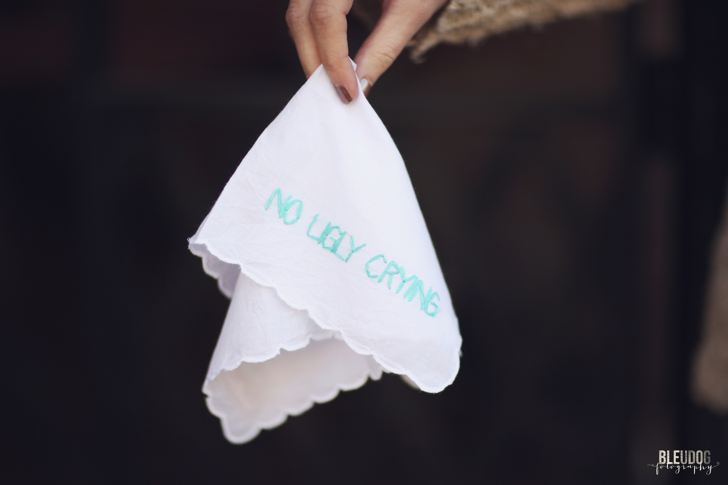 no ugly crying handkerchief by wrenbird arts