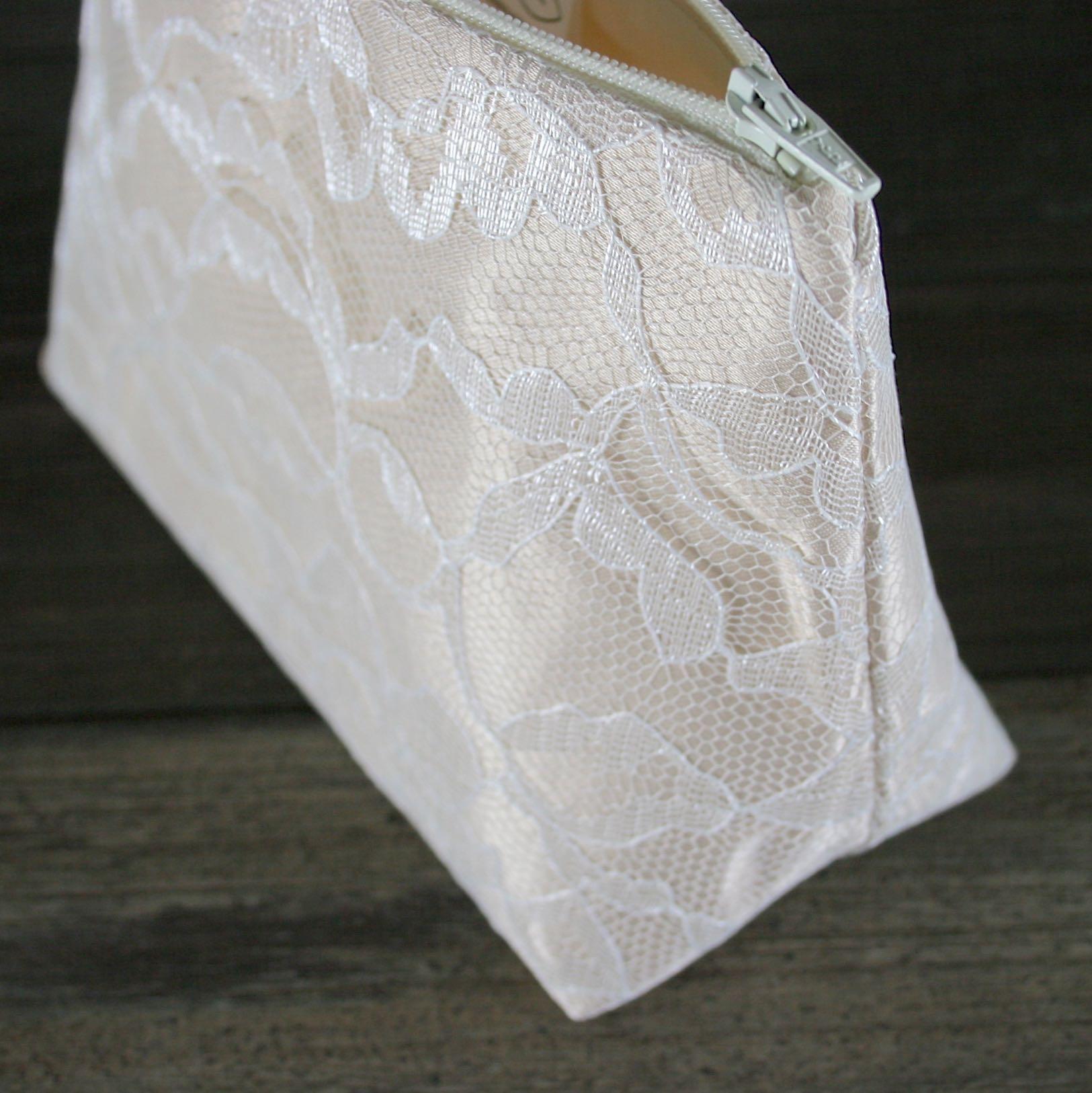 Champaign Satin & Ivory Lace Bridesmaid Gift - Le Pique Nique by Jordani Sarreal 03.jpg
