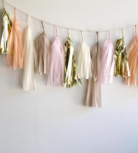 tassel decor bridal shower