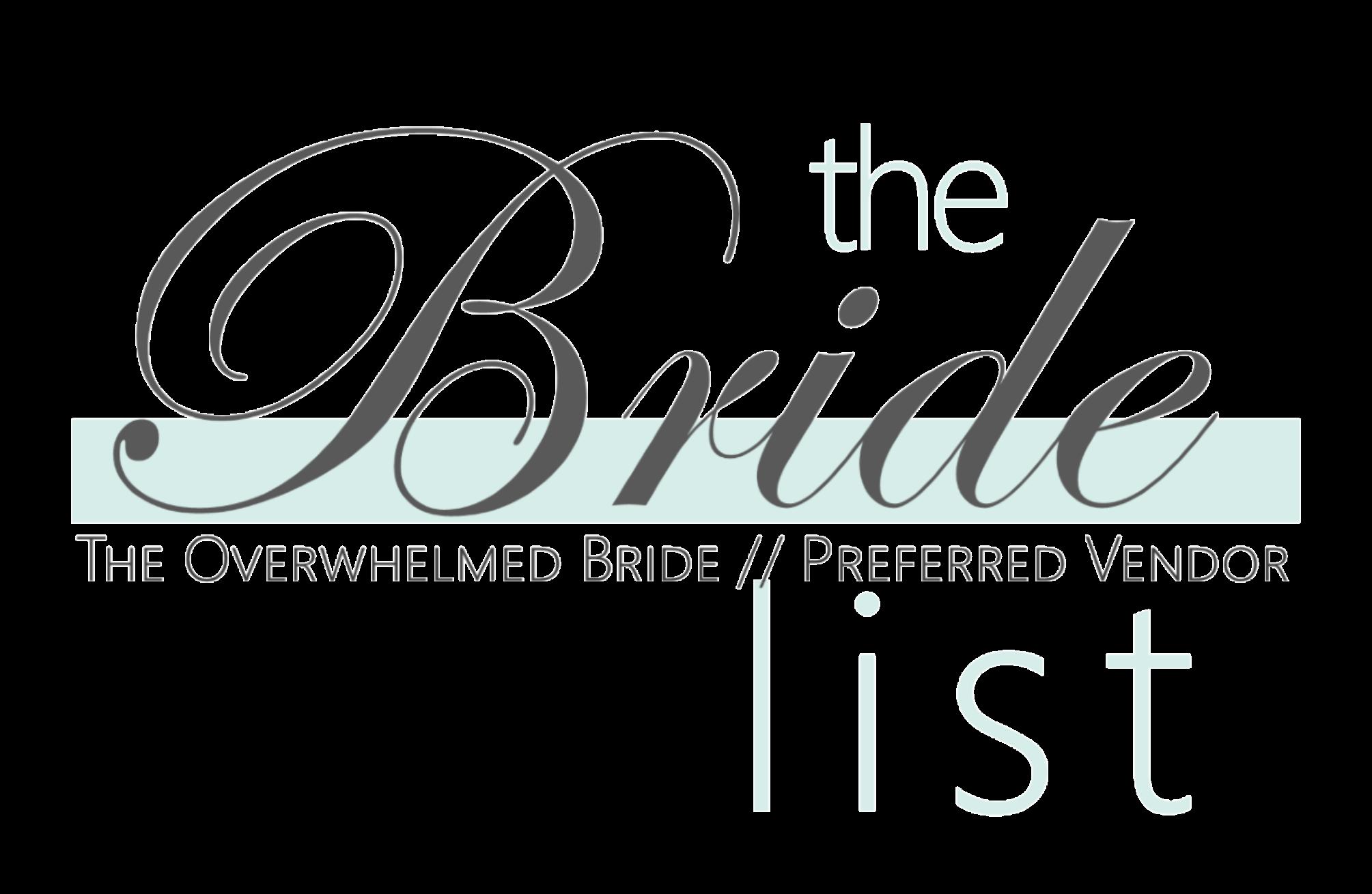 The Bride List Preferred Vendors